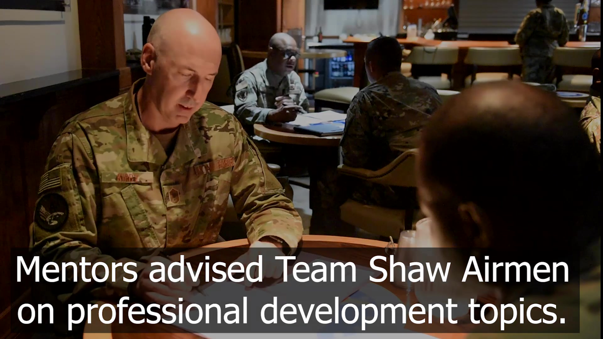 AFCENT Chiefs hosted a speed mentoring session for Team Shaw Airmen.