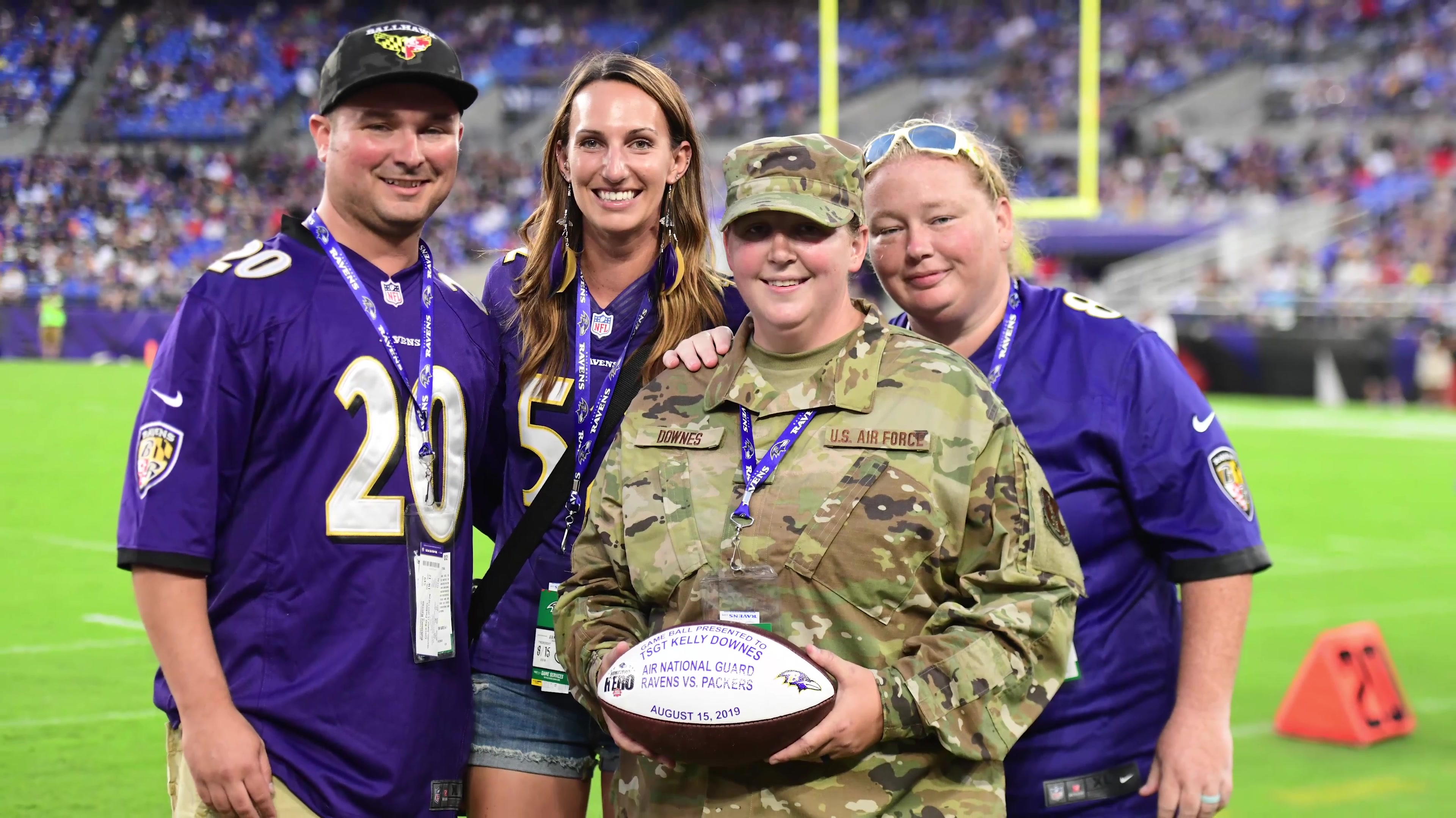 D.C. Air National Guard Tech. Sgt. Downes recognized as Hometown Hero by Baltimore Ravens