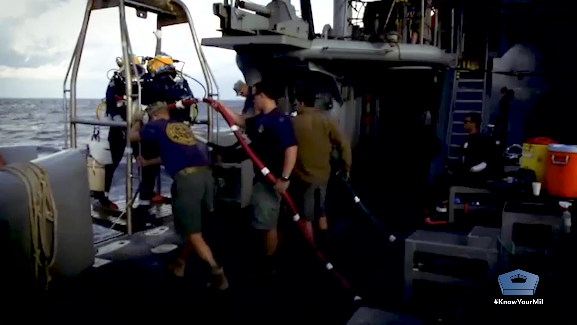 The Defense POW/MIA Accounting Agency is working to recover and identify the remains of the crew of the World War II battleship, USS Oklahoma, which sank during the Japanese attack on Pearl Harbor on Dec. 7, 1941.  Video by Navy Petty Officer 2nd Class Taylor Stinson