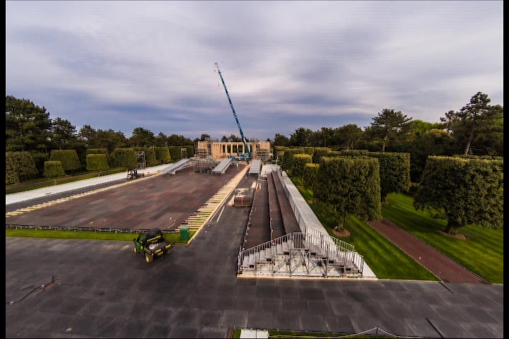 DDay 75th Anniversary timelapse video of preparations at the American Cemetery