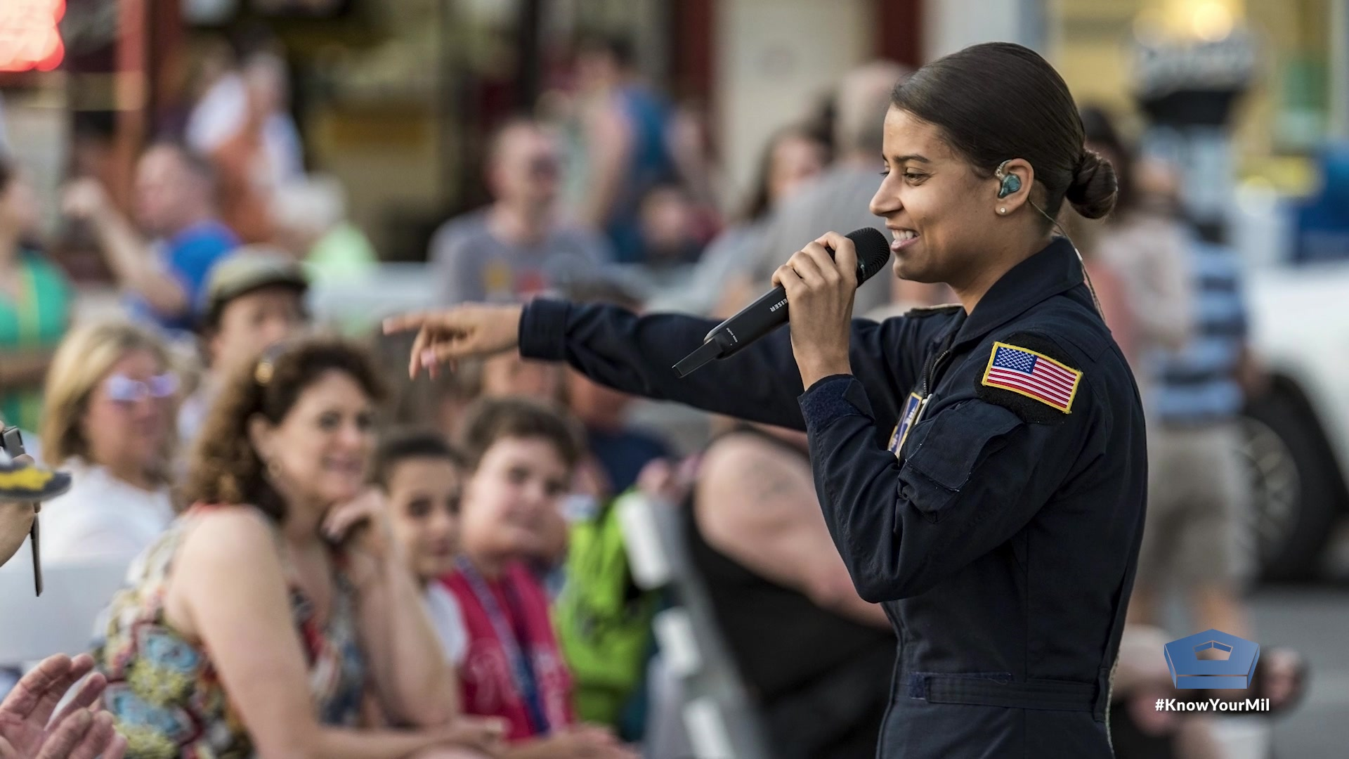 "Air Force Tech. Sgt. Nalani Quintello dropped out of ""American Idol"" to join the U.S. Air Force Band as the lead singer of the rock band Max Impact. Since then, she's been honoring veterans, inspiring patriotism and breaking the ice across the world. 