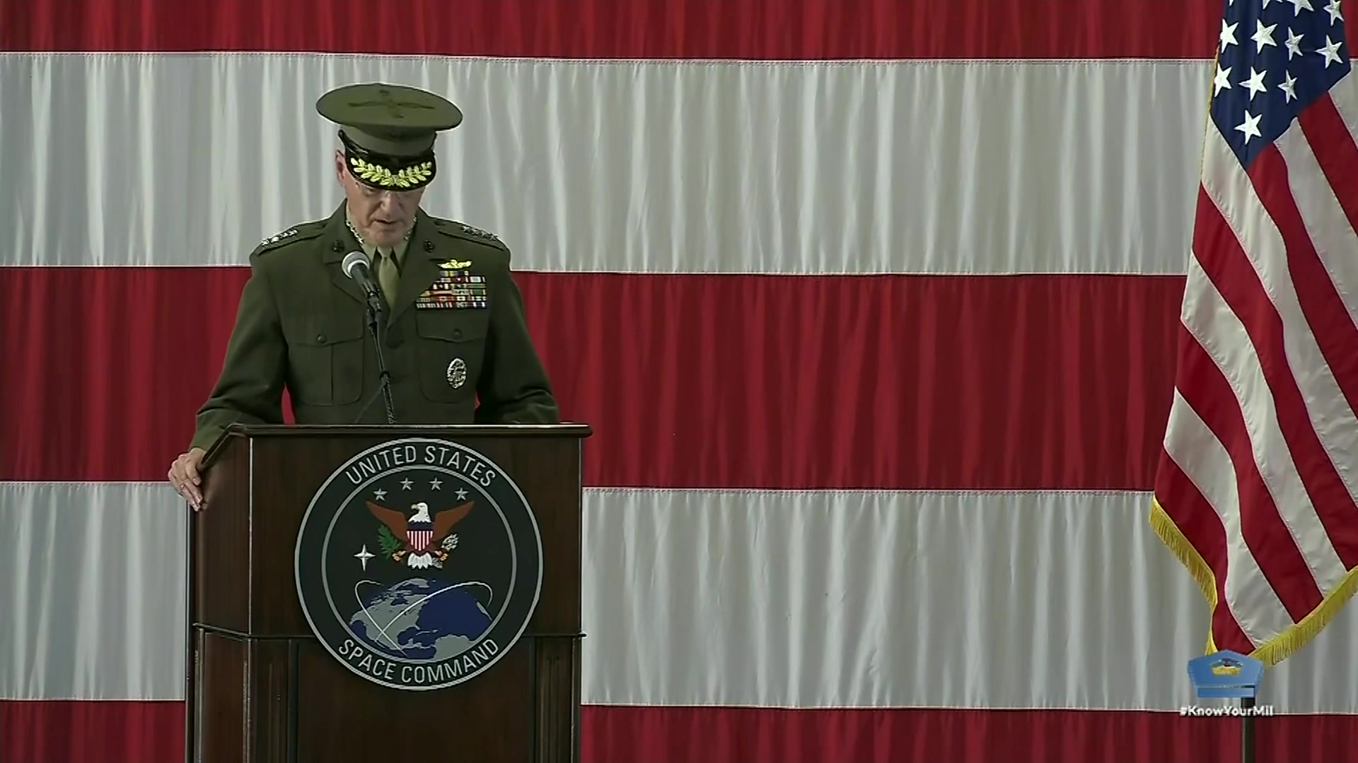 USSPACECOM Stand up ceremony at Peterson Air Force Base, Colo.
