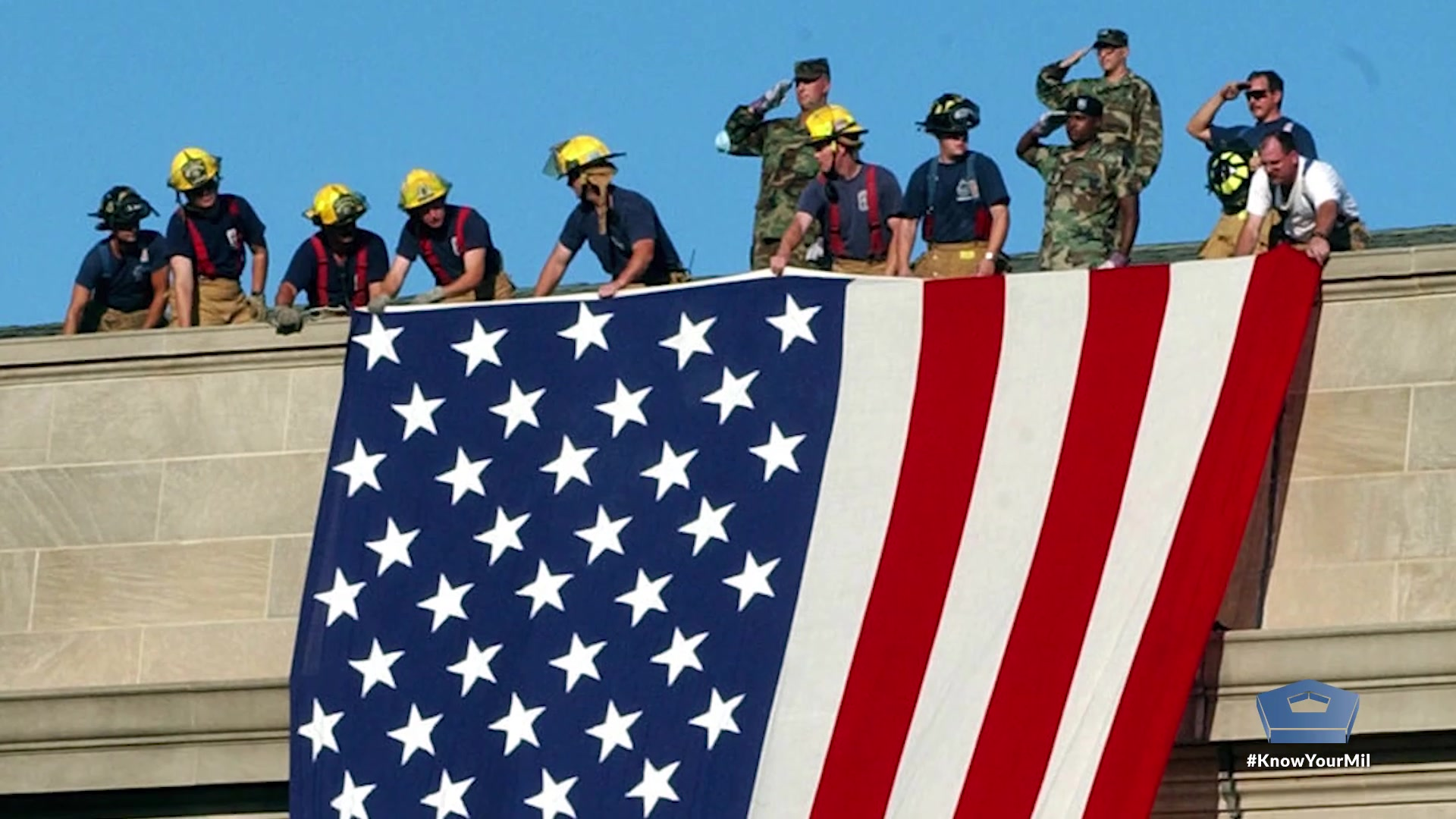 A Navy photojournalist recounts the story of how he captured a photo that has come to symbolize the hope and patriotism of the American people following the events of 9/11.  Video by Petty Officer 2nd Class Jesse Hyatt