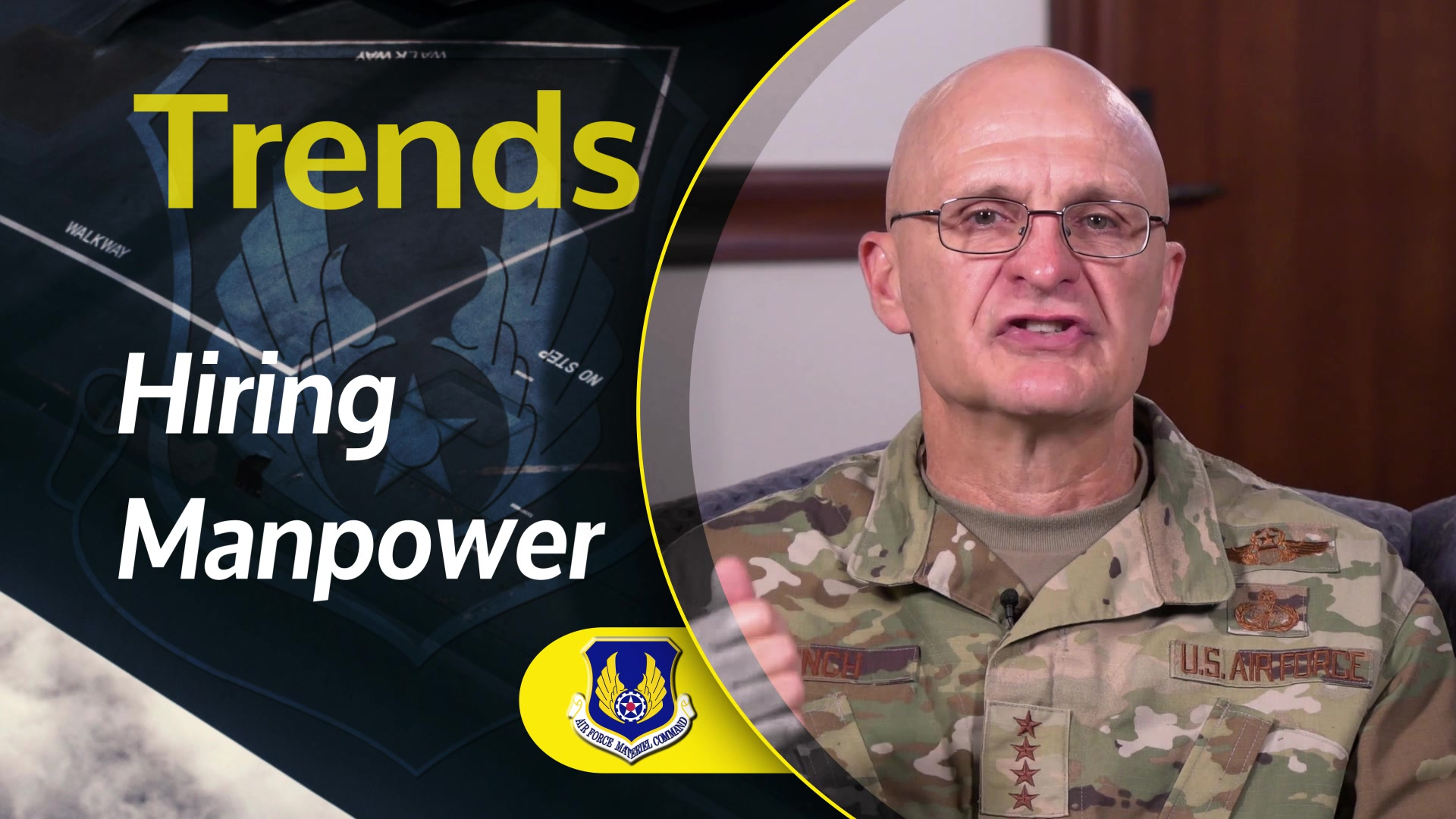 Gen. Arnold W. Bunch, Jr., commander, Air Force Materiel Command, discusses the initial results of the AFMC We Need initiative launched in July 2019. The goal of the study is to identify ways to best posture the command to meet the requirements of the National Defense Strategy and the Air Force of the Future.