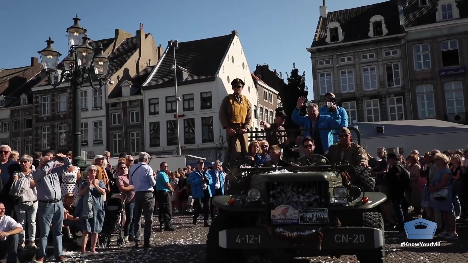 A parade in Maastricht, Netherlands, honored U.S. World World II veterans, Sept. 14, 2019. Soldiers assigned to the Army's 30th Infantry Division helped liberate the city in 1944. Four men who served in the division traveled to the Netherlands with the North Carolina National Guard to celebrate the 75th anniversary of the liberation of Limburg province; Maastricht is the province's capital. The NCNG's 30th Armored Brigade Combat Team traces its lineage to the 30th Infantry Division and guardsmen's uniforms still bear the same unit patch.  Veterans John O'Hare and Tony Jaber talk about their experience in 1944 and the welcome they received 75 years later.