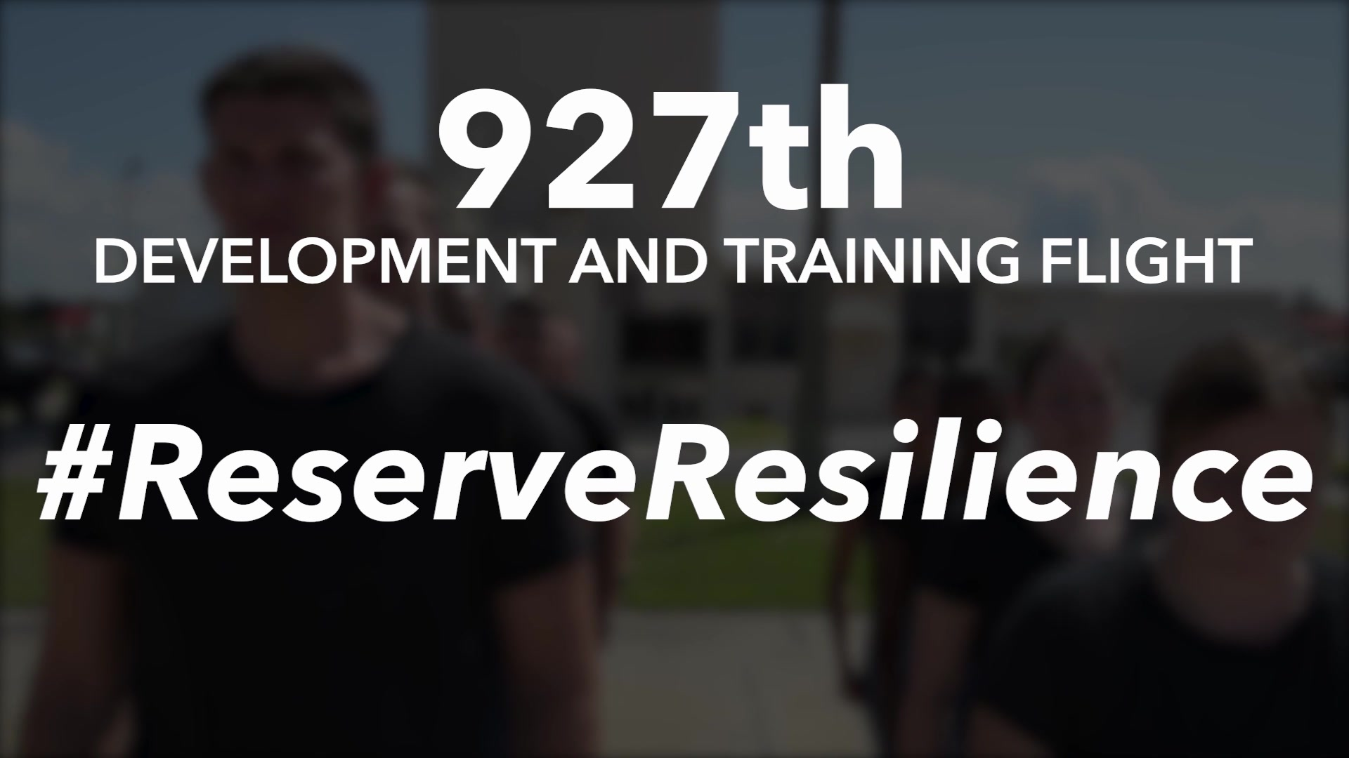 A look at how the 927th Development and Training Flight teaches trainees resilience before going off to Basic Military Training.