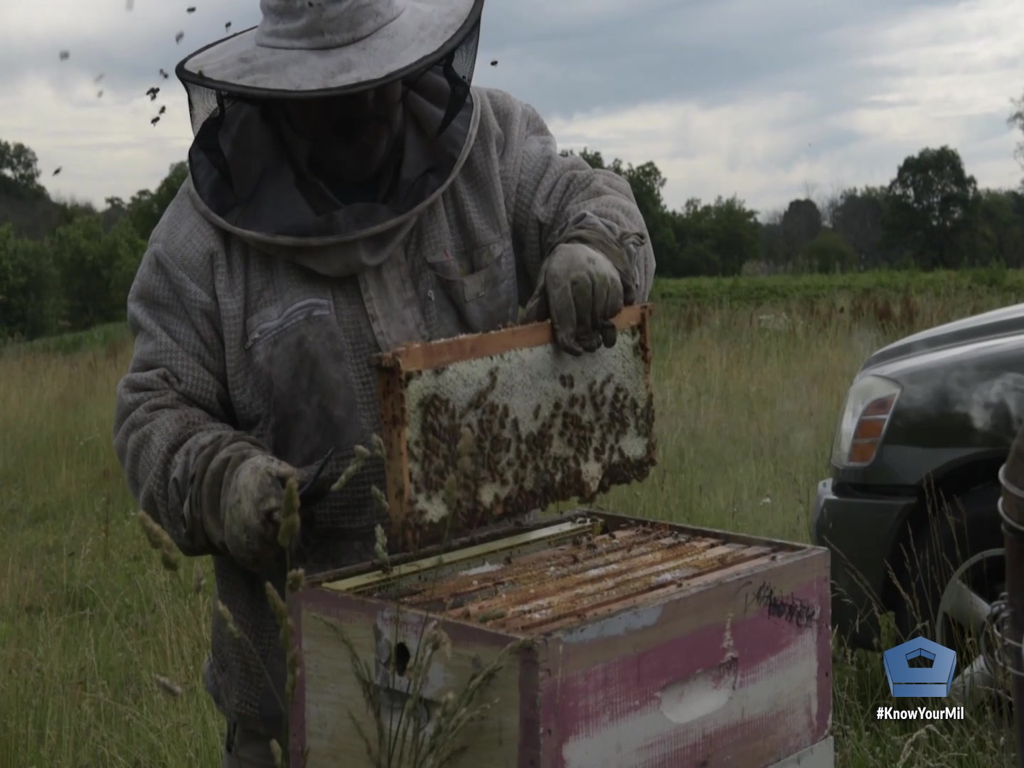 Retired Navy Senior Chief Petty Officer Todd Paul Cichonowicz started beekeeping in 2011 with one hive. Now, he has grown to more than four dozen hives across multiple properties. His hobby of keeping bees has helped him find peace in his retirement.