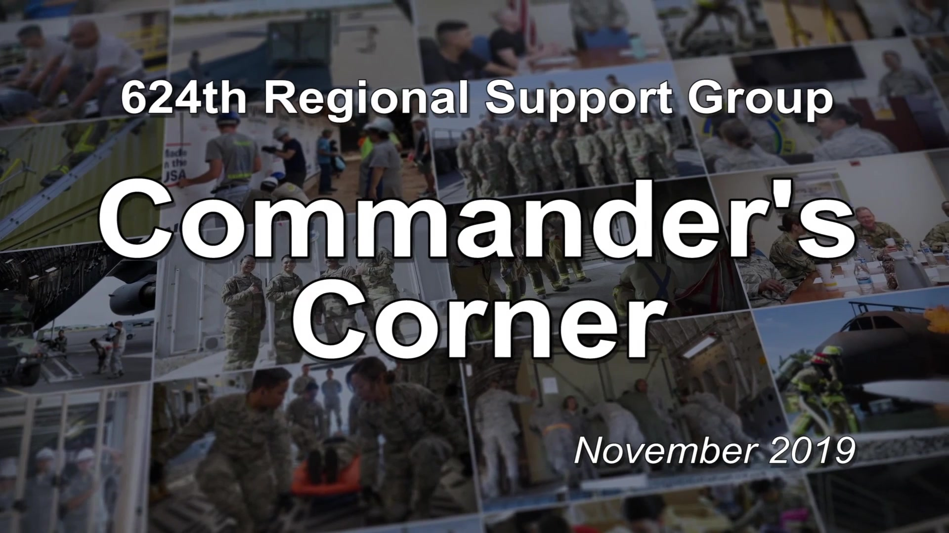 624th Regional Support Group Commander discusses the upcoming Defense Equal Opportunity Climate Survey.