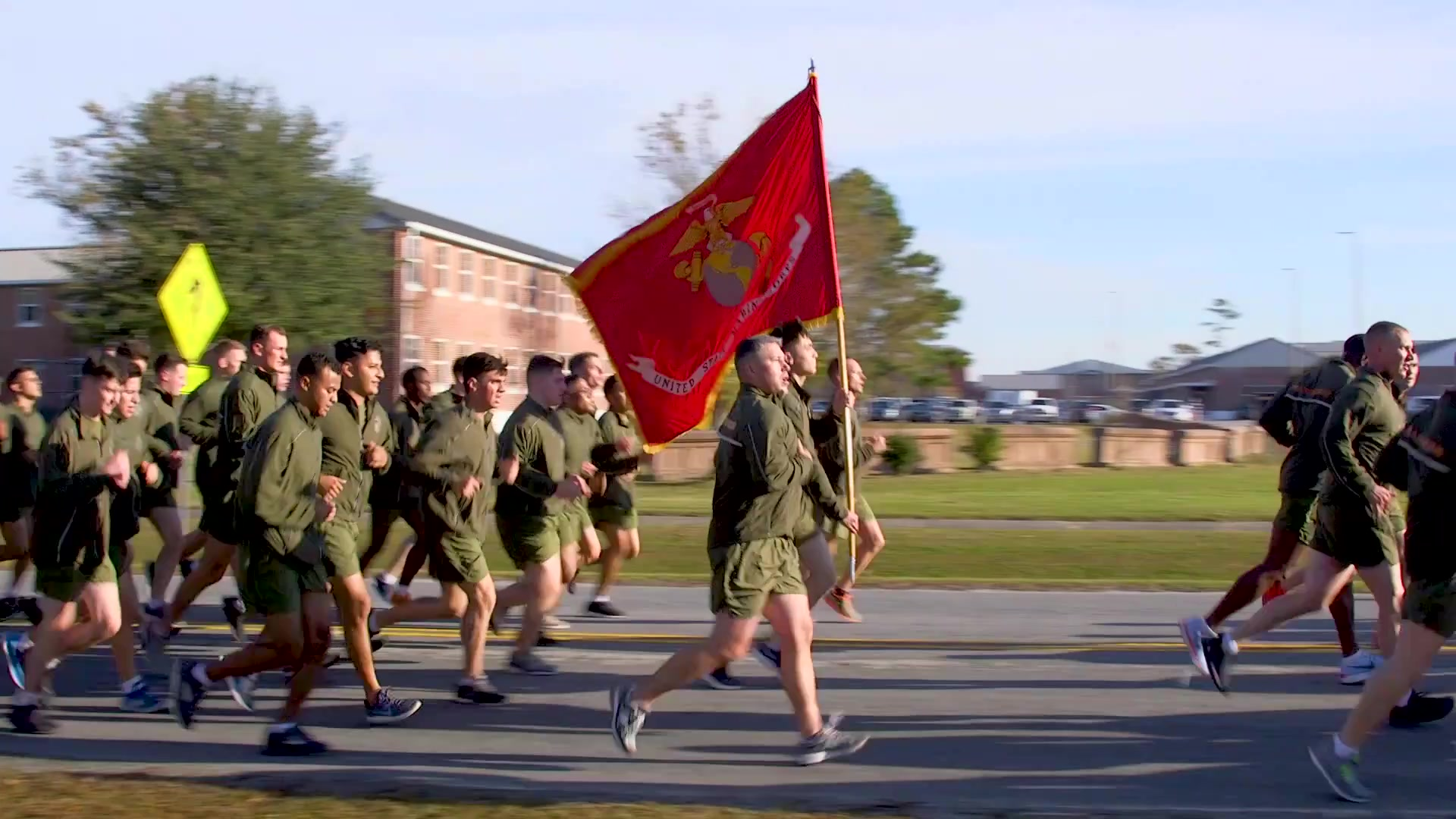 Marines with 2nd Marine Aircraft Wing (MAW) and Headquarters and Headquarters Squadron participated in 2nd MAW's annual birthday run on Marine Corps Air Station Cherry Point, North Carolina, Nov. 22, 2019. The run commemorated the 244th birthday of the Marine Corps. (U.S. Marine Corps video by Cpl. Cody Rowe)