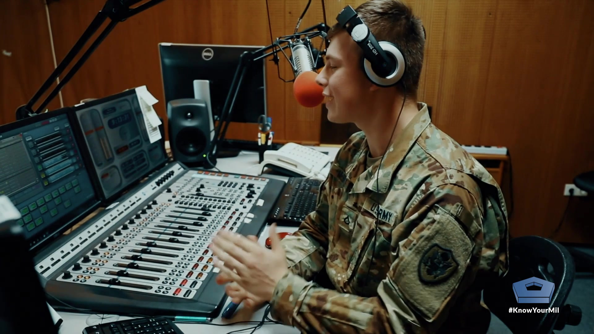"Wait, you can be a radio DJ in the military?  Army Pfc. Tyler McBride is a broadcaster with the American Forces Network and co-host of the ""Morning Scramble"" radio program broadcast from Rose Barracks, Germany.  He's a DJ known as ""Cheese"" on AFN's ""The Eagle"" radio station.