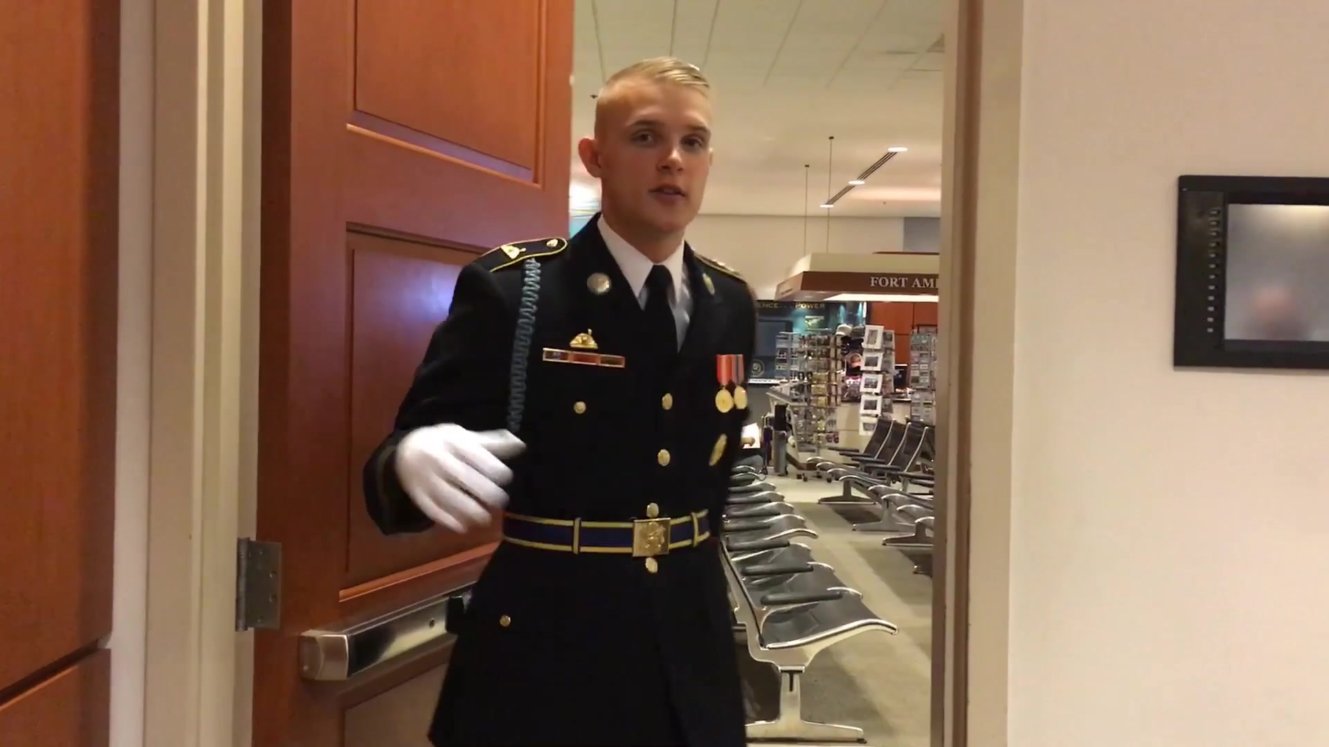 Soldiers, sailors, airmen, Marines and Coast Guardsmen assigned to their services' ceremonial units volunteer or are hand-picked to become Pentagon tour guides. Every working day, they lead groups of visitors into the Pentagon for in-depth tours to learn about the building's history and to see what it looks like inside.  Video By Army Staff Sgt. Vanessa Atchley