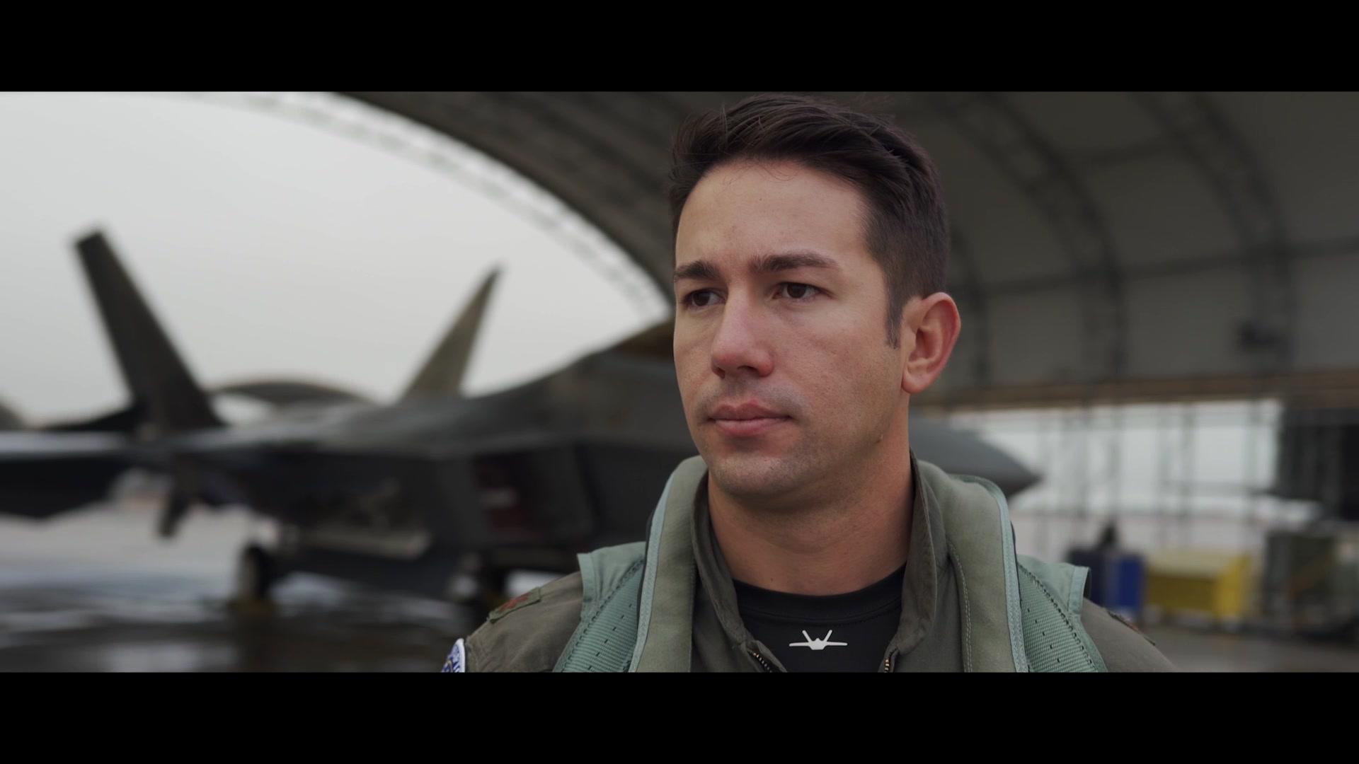 Video introducing Maj. Joshua 'Cabo' Gunderson, commander  of F-22 Raptor Demonstration Team.