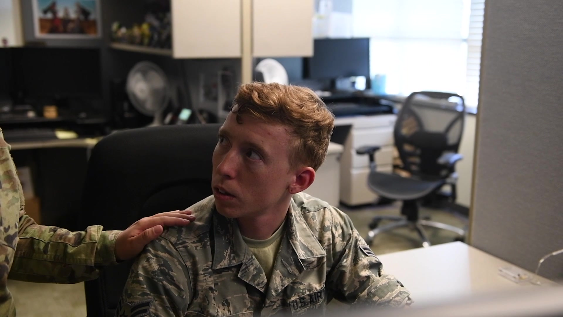Suicide prevention awareness video highlighting Airman's personal struggle and reminding us to look for depression signs in happy outgoing friends as well as ones who seem down.