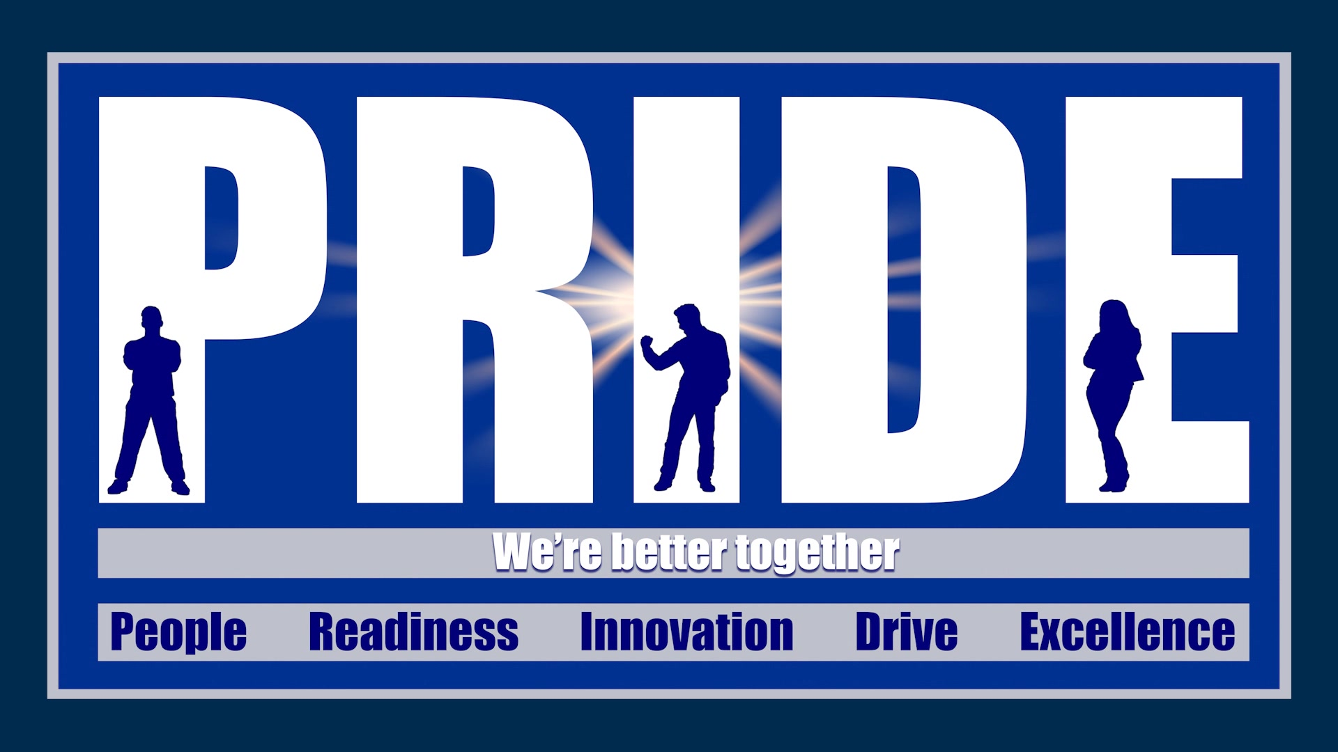 PRIDE into video lays out the five commander's priorities: People, Readiness, Innovation, Drive and Excellence.