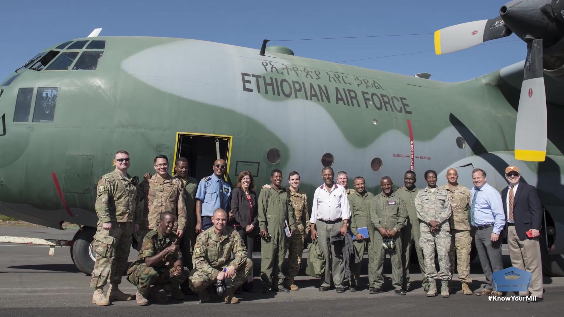 The U.S. Air Force and the Ethiopian air force work hand in hand to maintain aircraft for ongoing peacekeeping operations. Through teamwork and shared experiences, the forces build friendship and carry out the mission.
