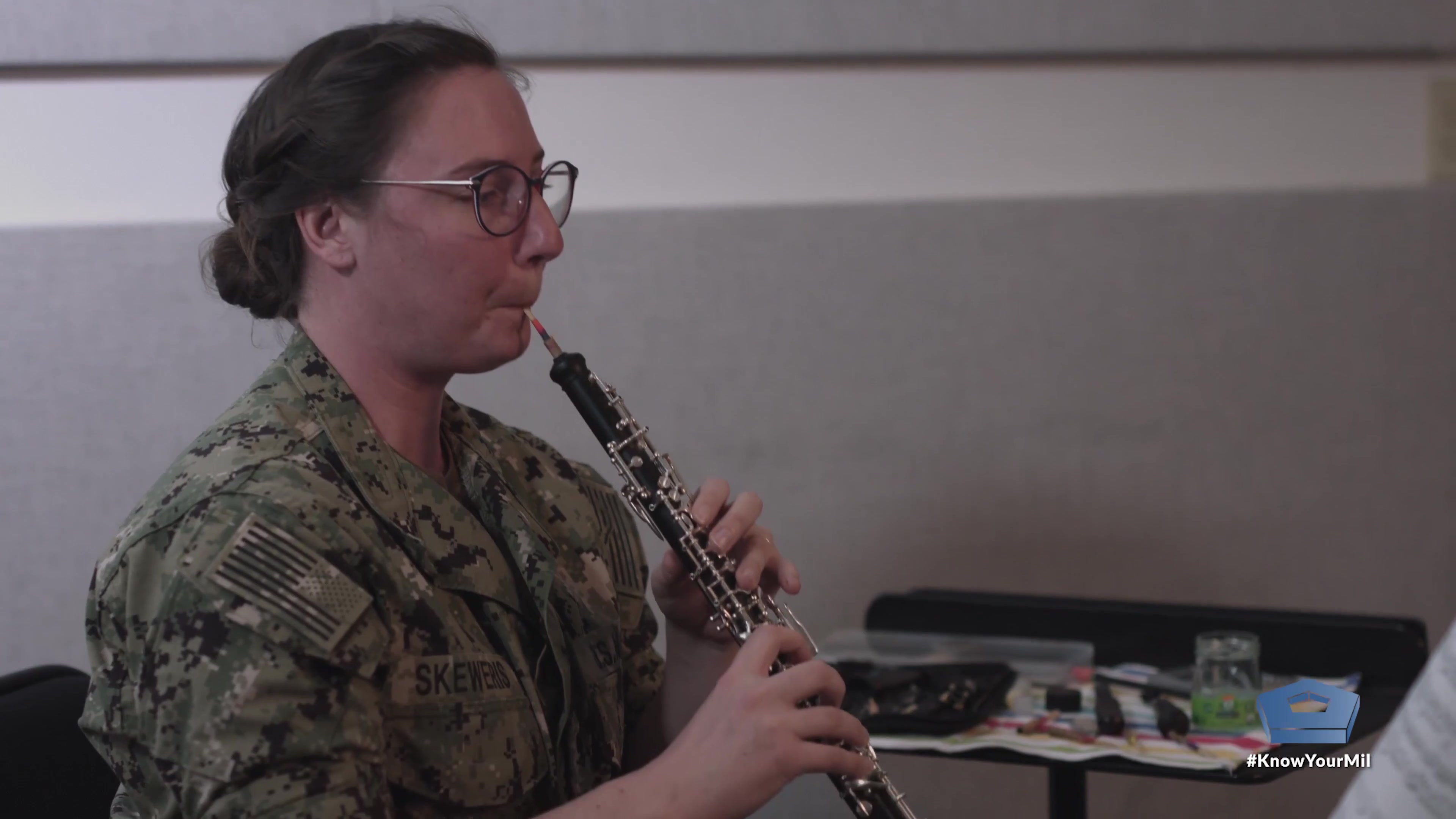 She spends up to 18 hours a day on the quest for the perfect oboe reed. She crafts each one by hand.  It's by chance when she turns out one that's perfect and can actually give you a glimpse into the soul of the person playing it — the perfect reed that is as flawed as life itself.    Video by Navy Petty Officer 2nd Class Jason Andrew