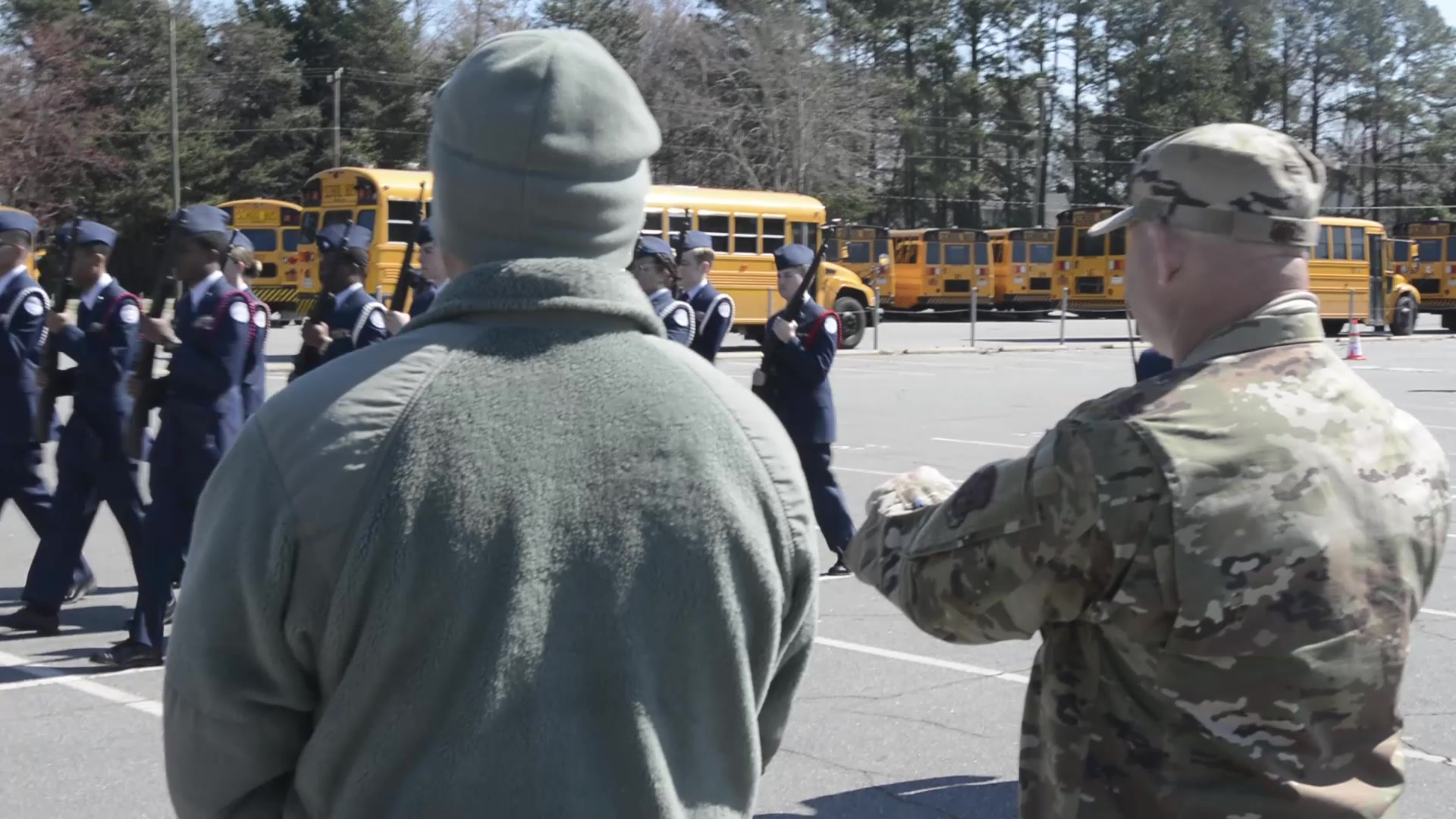 North Carolina high school Air Force Junior ROTC drill teams competed in a competition at Independence High School, in Charlotte, NC.