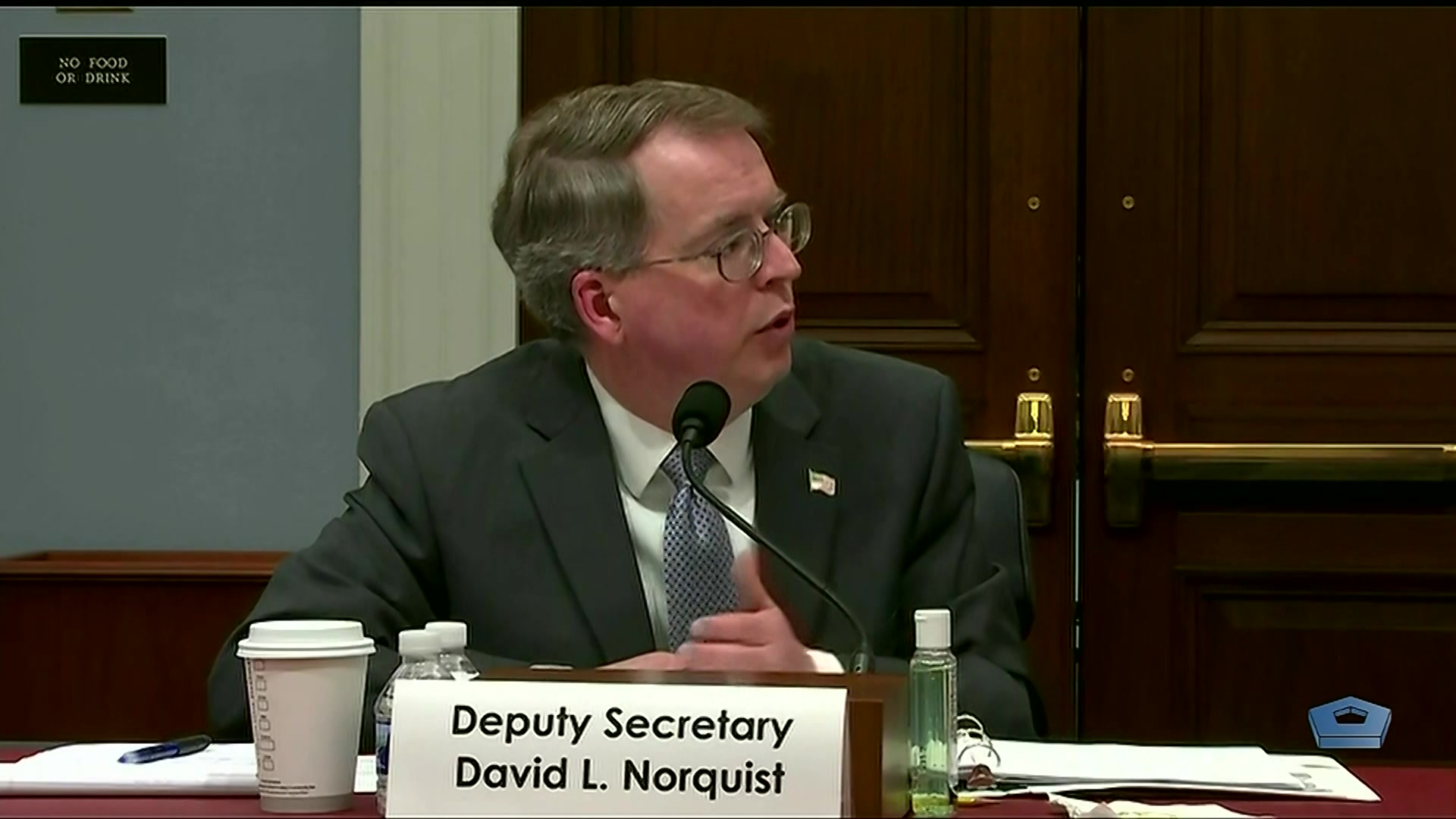 Deputy Secretary of Defense David L. Norquist will report on President Donald J. Trump's budget request at a hearing before the House Committee on the Budget, March, 10, 2020.