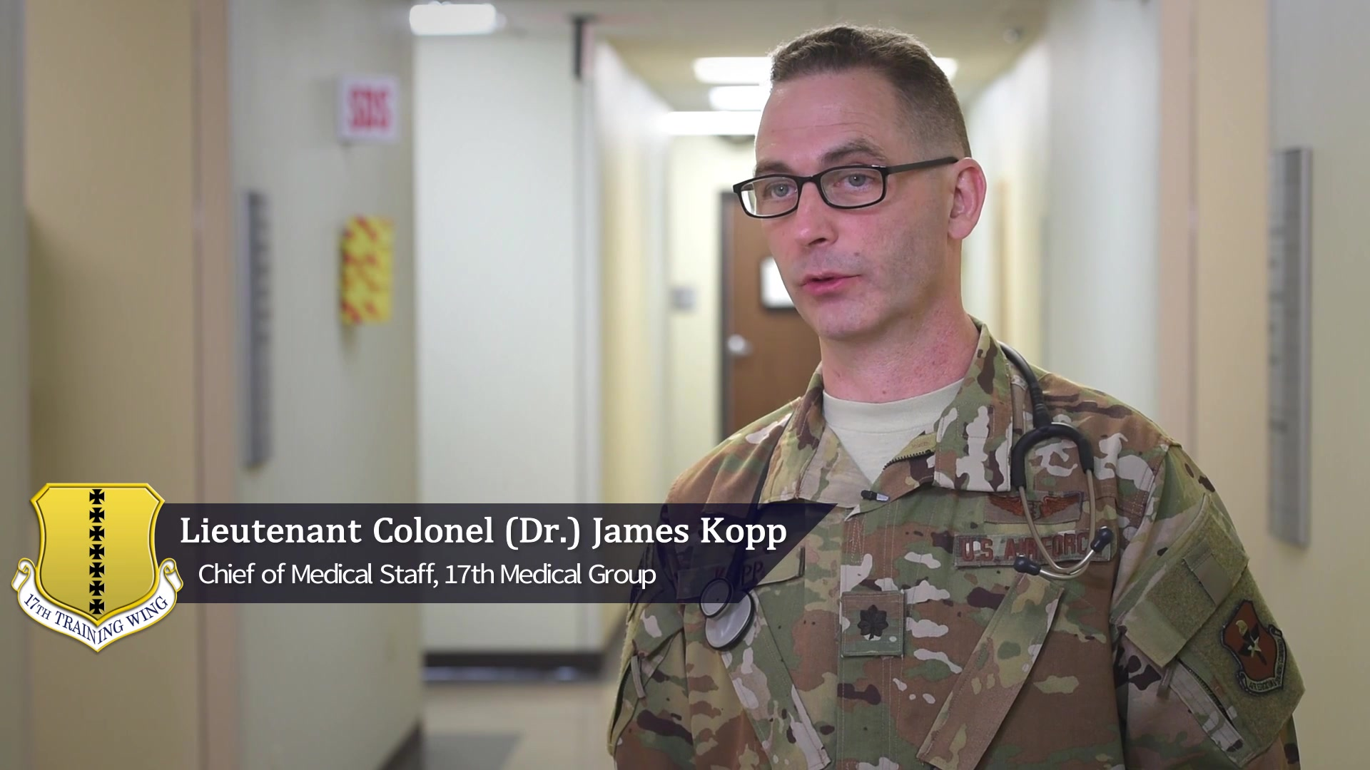 Dr. James Kopp, Chief of Medical Staff for the 17th Medical Group, offers some important tips on when to seek medical attention for concerns related to the coronavirus or COVID-19.