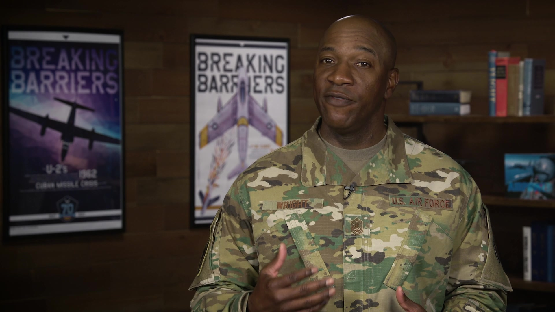 Chief Master Sergeant of the Air Force Kaleth O. Wright delivers a message to the Air Force regarding CONVID-19.