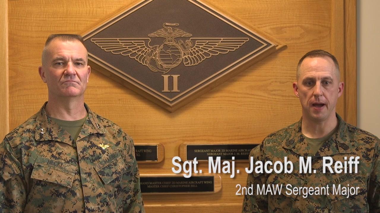 Marines throughout 2nd MAW commemorate Iwo Jima's 75th anniversary. The U.S. Marine Corps and U.S. Navy landed on February 19, 1945, and later captured the Japanese island of Iwo Jima during World War II. (U.S. Marine Corps video by Cpl. Damarias Arias and Lance Cpl. Chelsi Woodman)