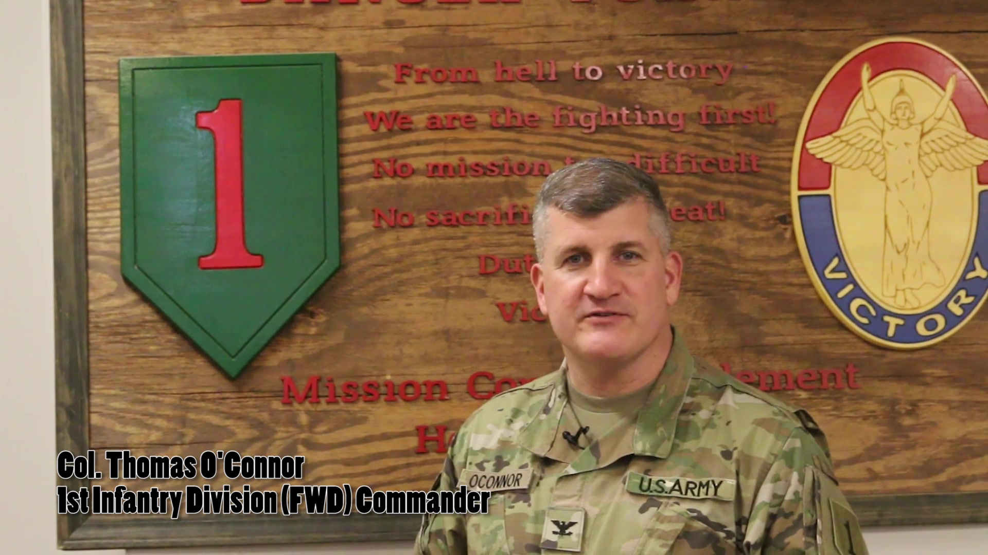 1st Infantry Division leadership discusses COVID-19.