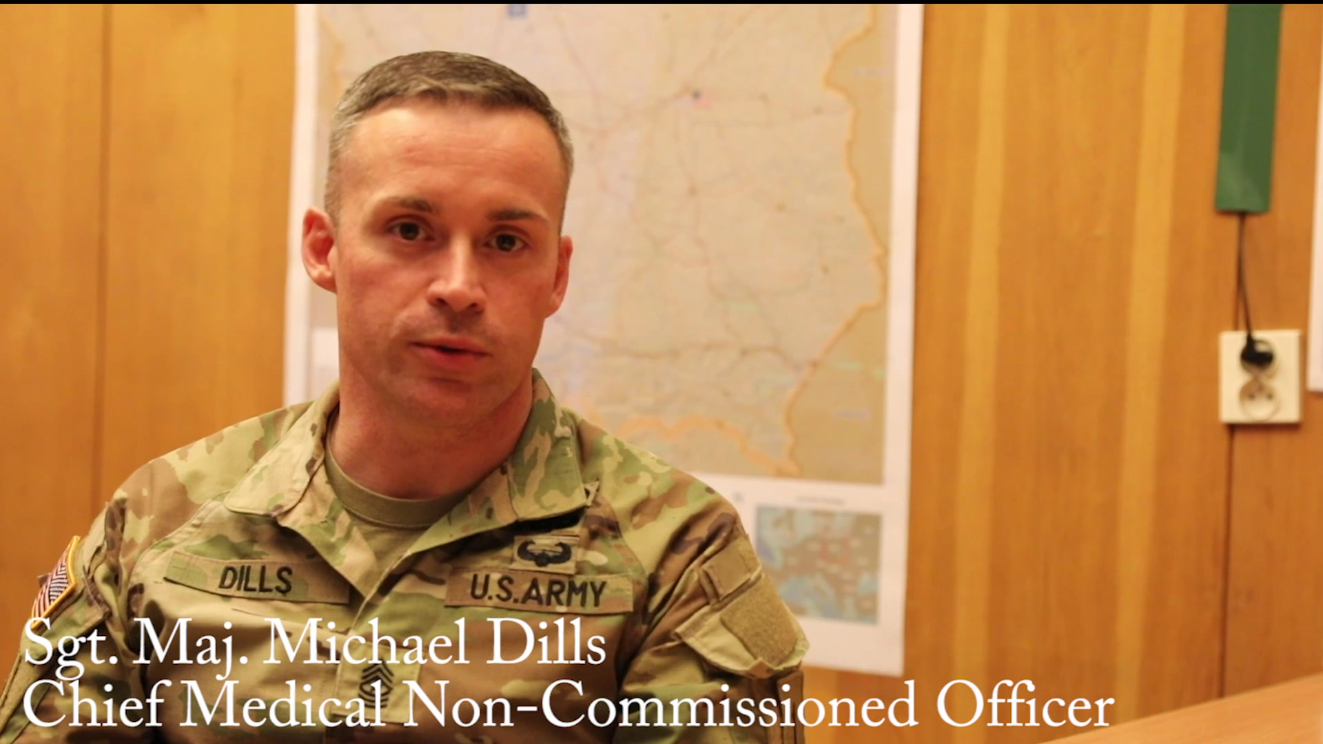First Infantry Division, Forward, chief medical Noncommissioned Officer discusses COVID-19.