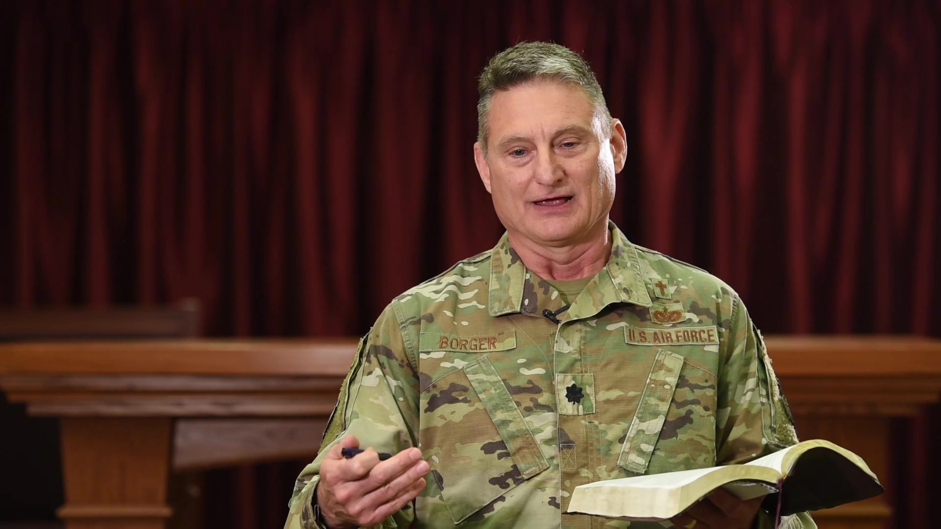 Here's another inspirational message from 17th Training Wing Chaplain, Lt. Col. Bob Borger to help us navigate these challenging times.