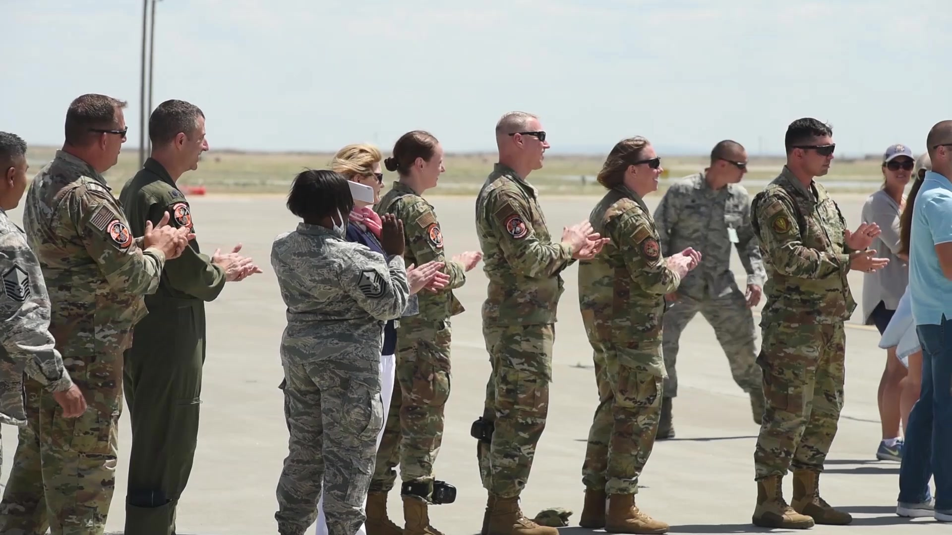 Col. Rick Goodman and the 366th Fighter Wing welcome the 389th Fighter Squadron back to Mountain Home Air Force Base!