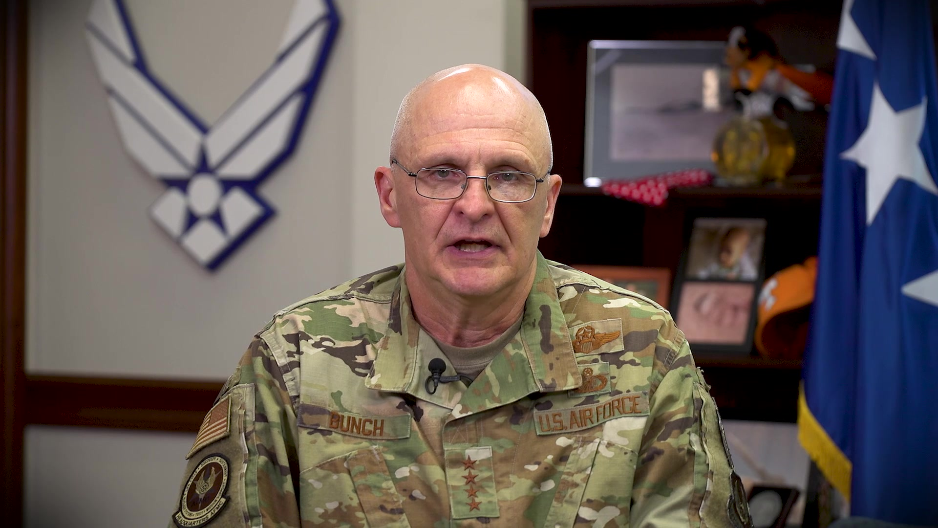 Gen. Arnold W. Bunch Jr., Air Force Materiel Command Commander, addresses the workforce on diversity and inclusion, Wright-Patterson Air Force Base, Ohio, June 10, 2020. (U.S. Air Force video by Christopher Decker)