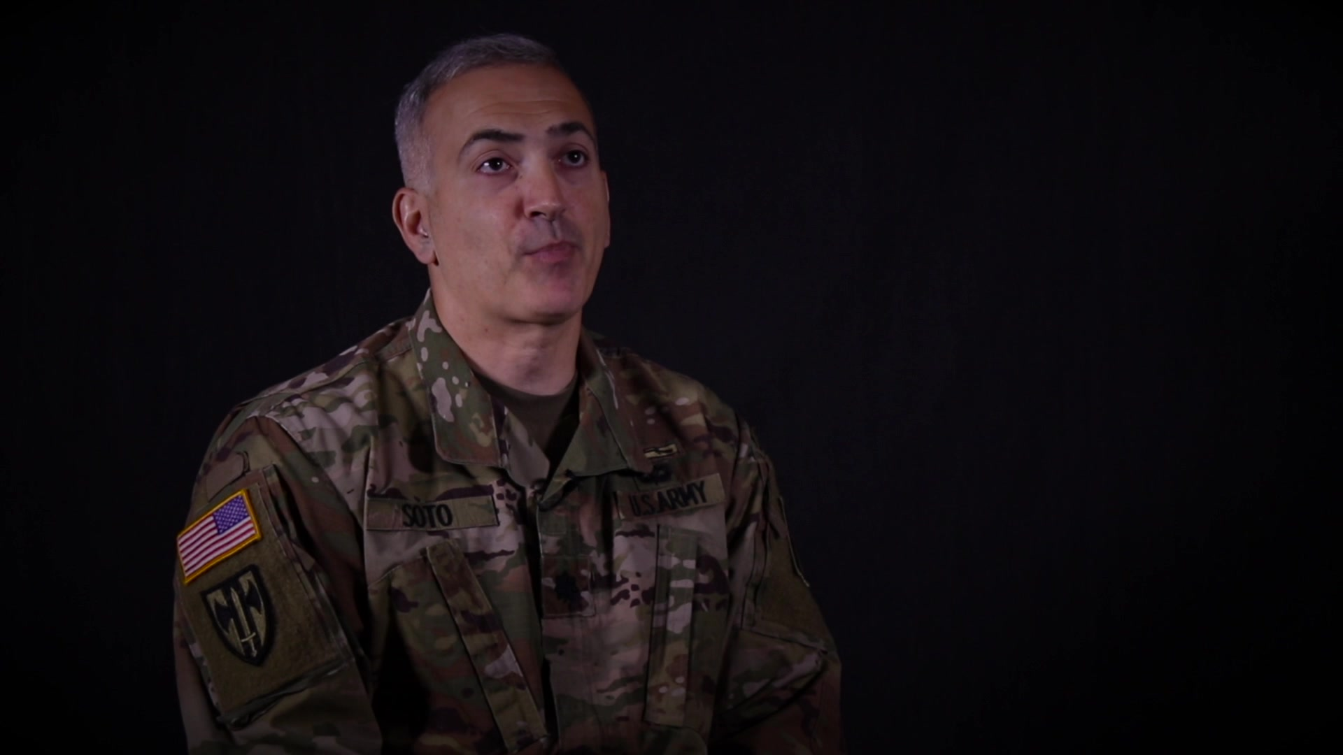 Lt. Col. John Soto is an Active Guard Reserve Soldier assigned to the 143d Sustainment Command (Expeditionary) in Orlando, Fla. In this interview, Lt. Col. Soto shares why he joined and continues to serve in the U.S. Army Reserve. (U.S. Army video by Spc. Leon Orange)