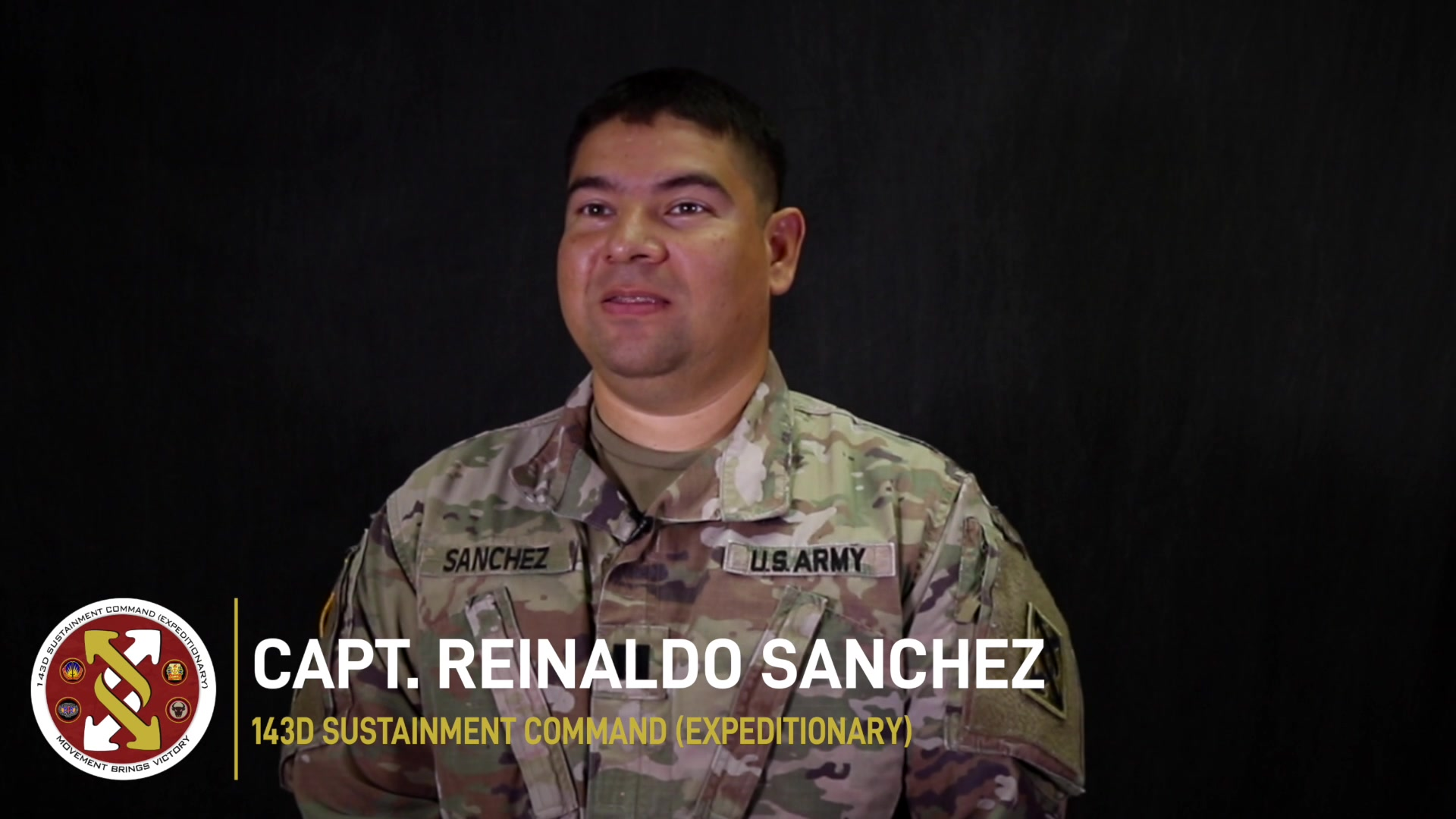 Capt. Reinaldo Sanchez serves as an information system officer at the 143d Sustainment Command (Expeditionary) in Orlando, Fla. Sanchez shared how his work environment changed during the COVID-19 pandemic. (U.S. Army video by Spc. Leon Orange)