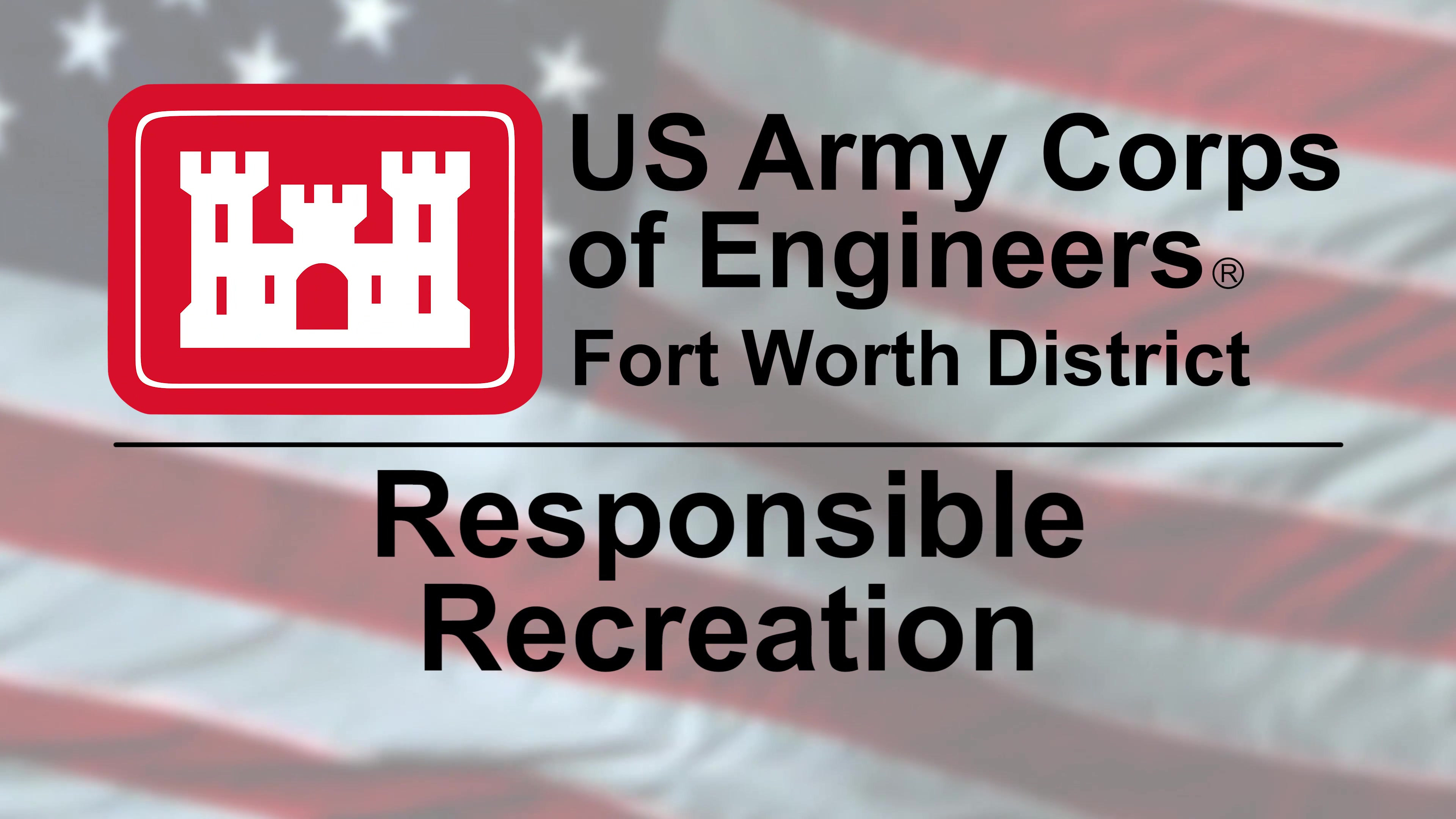 From every one at #USACE Fort Worth, we would like to remind our patrons to practice RESPONSIBLE RECREATION at the 25 lakes we offer. Leave no trace, stay safe, and see you at the lake!