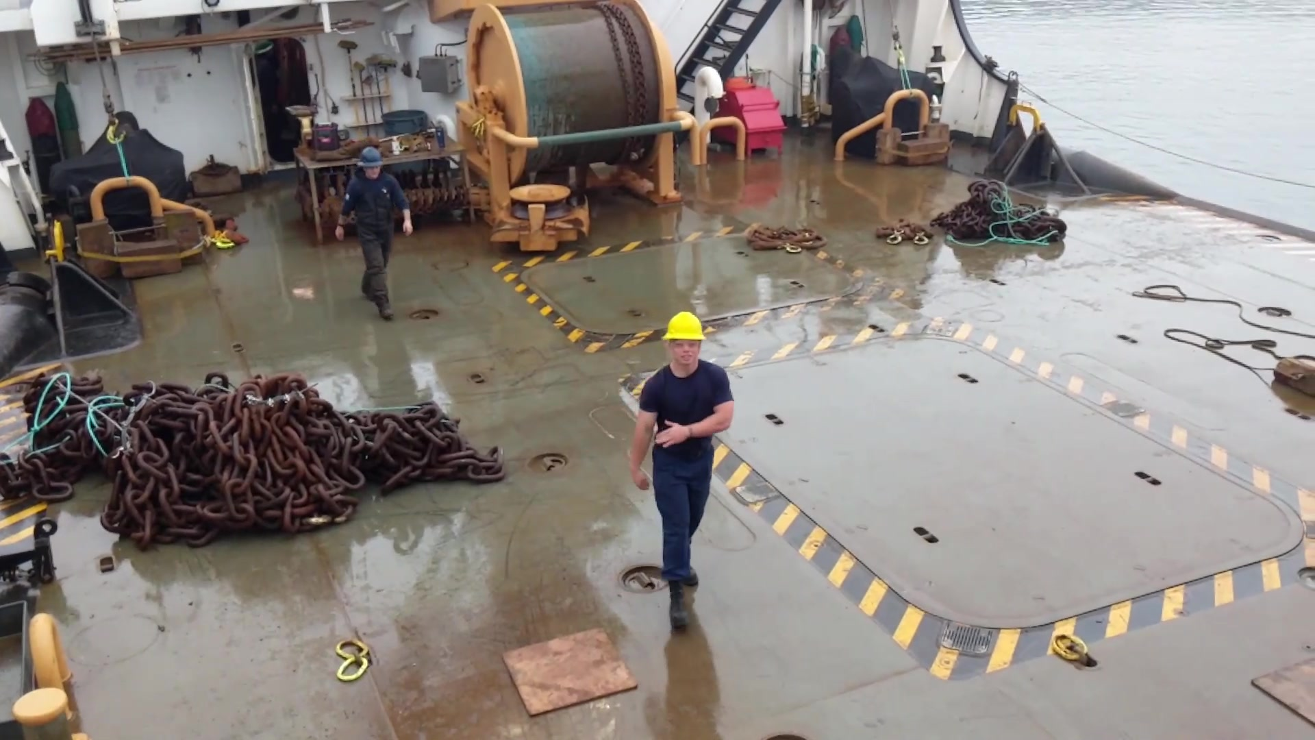 Crewmembers from Coast Guard Cutter Elm (WLB-204) host a virtual tour of the buoy tender on July 9, 2020, in Astoria, Oregon. The Elm was commissioned in November 1998 and recently underwent major dry dock repairs in Baltimore, Maryland. (U.S. Coast Guard video by ENS Michael Kovacks, PA3 Trevor Lilburn, and PA2 Steve Strohmaier)