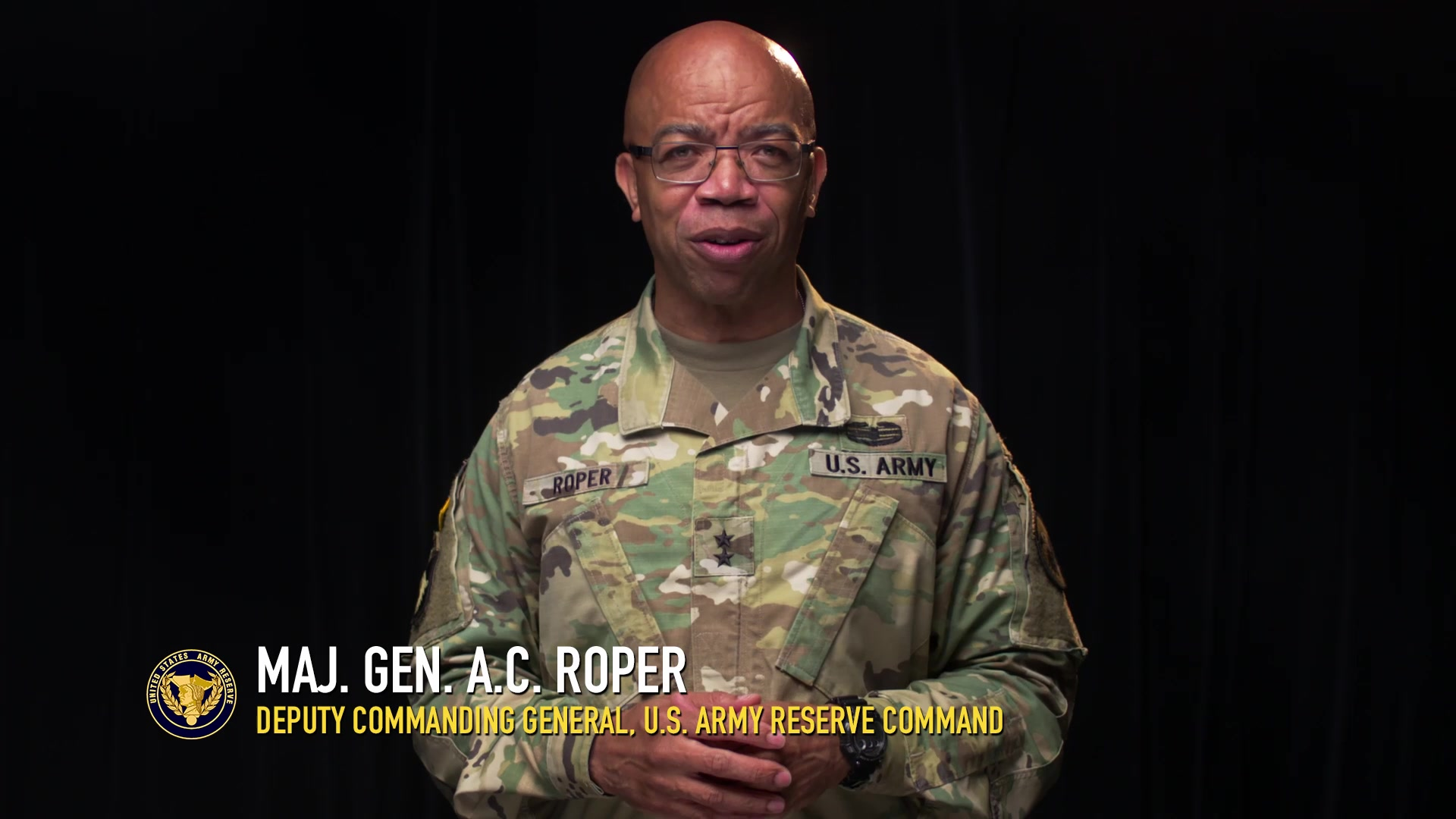 Maj. Gen. A.C. Roper, deputy commanding general U.S. Army Reserve, talks about the value of life of every U.S. Army Reserve Soldier and the importance of reflectively listening to the concerns and needs of others.