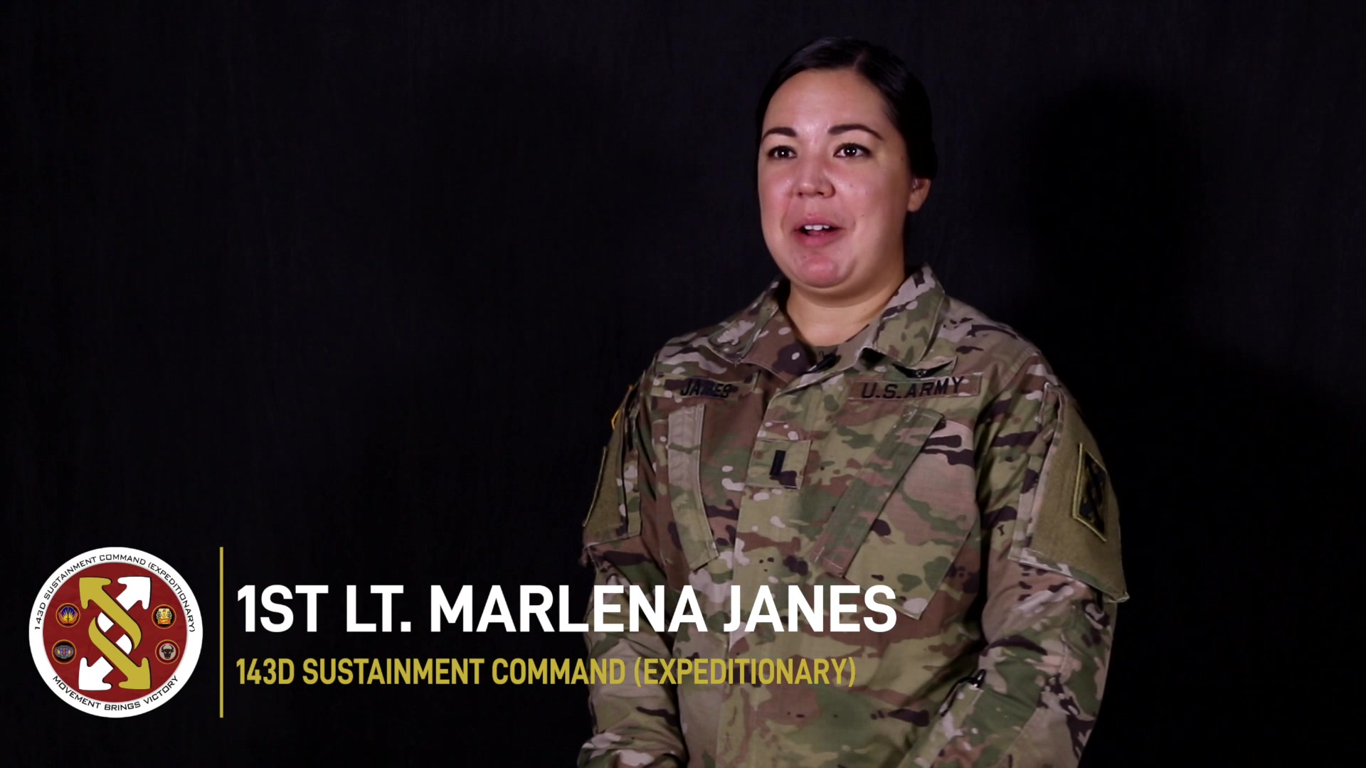 1st Lt. Marlena Janes of the 143d Sustainment Command (Expeditionary) in Orlando, Fla., shared how her work environment changed during the COVID-19 pandemic. (U.S. Army video by Spc. Leon Orange)