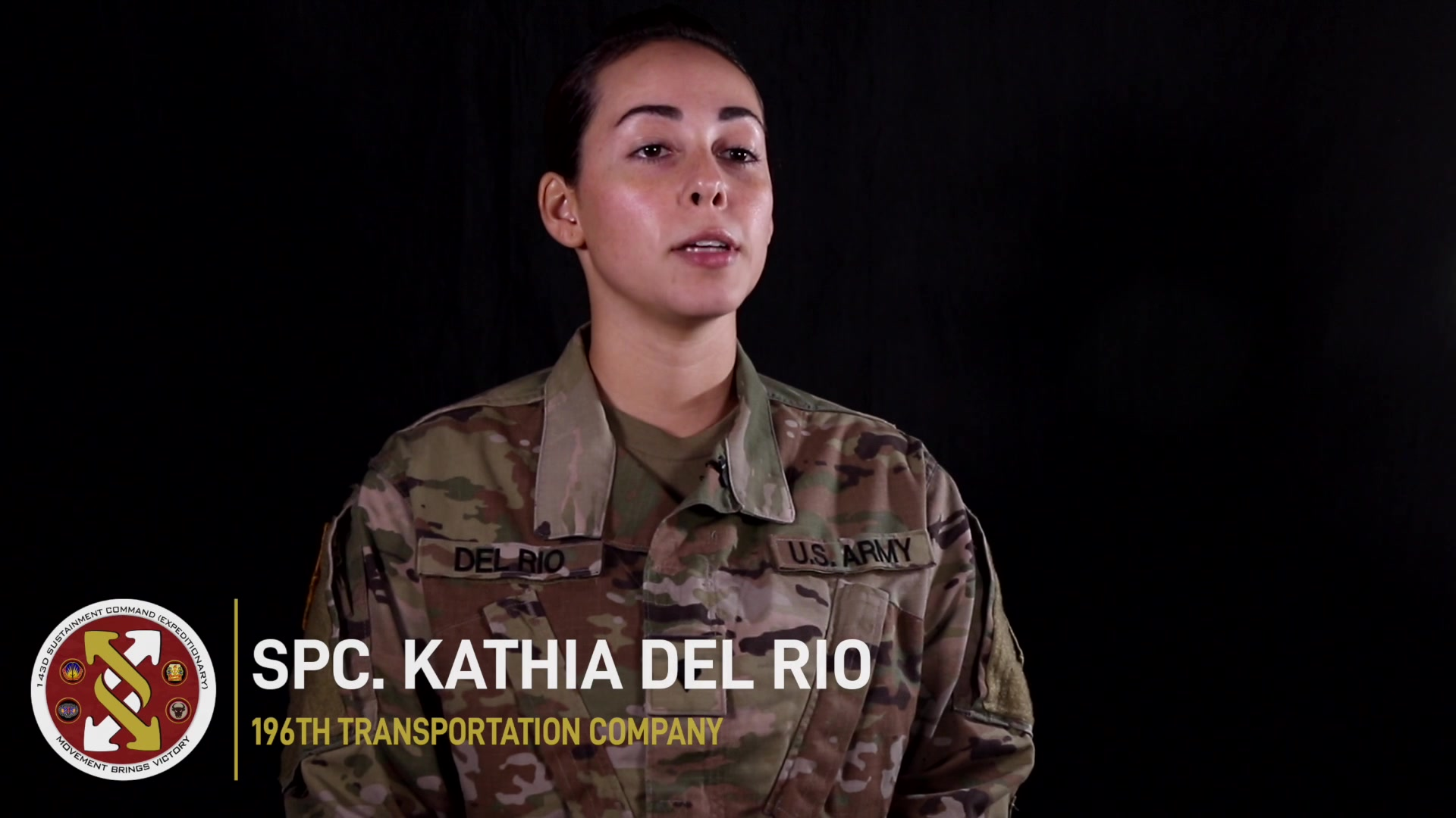 Spc. Kathia Del Rio, assigned to the 196th Transportation Company in Orlando, Fla., shares why she joined and continues to serve in the U.S. Army Reserve. (U.S. Army video by Spc. Leon Orange)