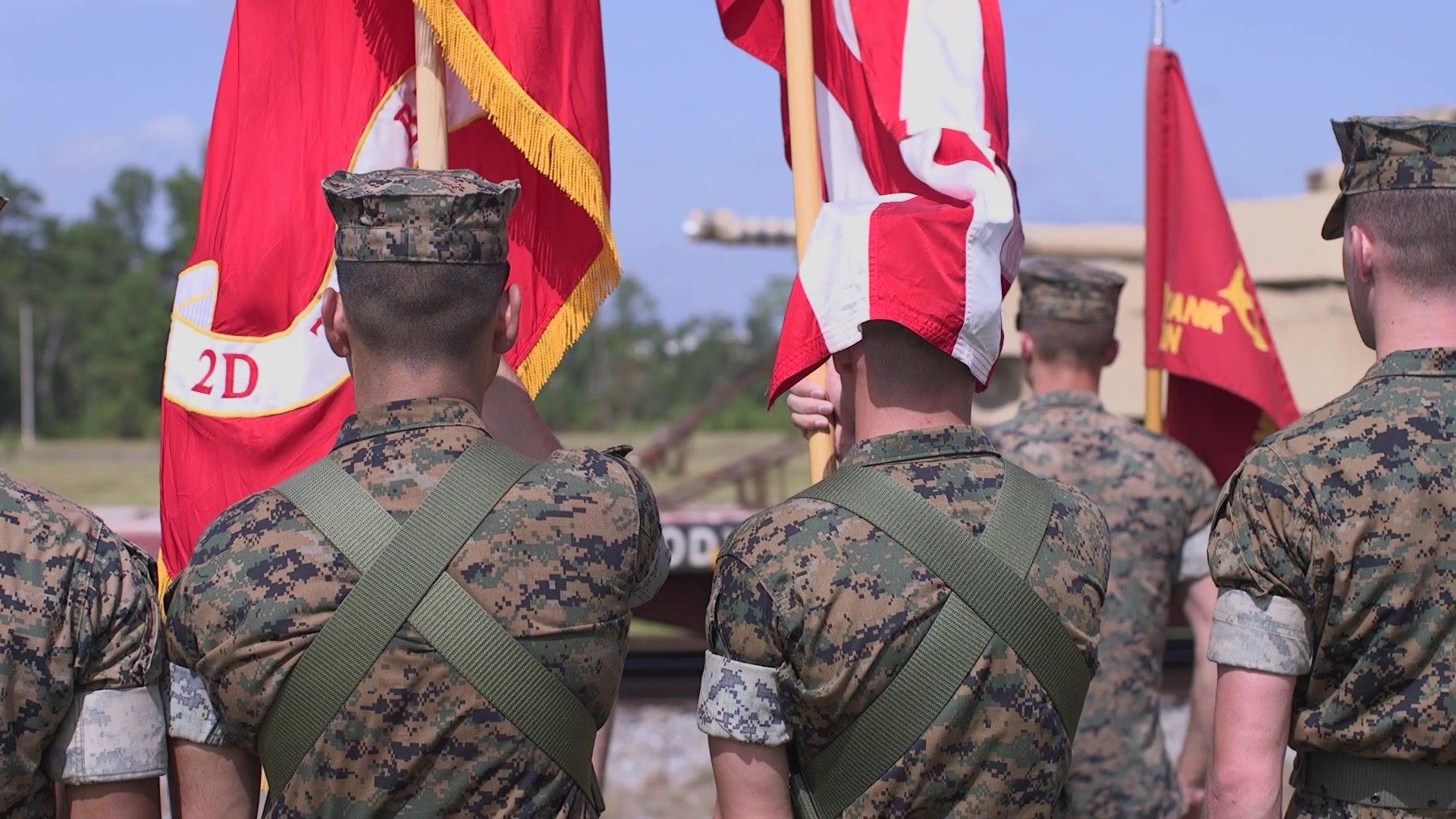 U.S. Marines with 2d Tank Battalion, 2d Marine Division, host a ceremony to sendoff the last Tanks in Camp Lejeune, North Carolina, July 31, 2020. After 78 years of service, 2d Tank Battalion will be deactivated in accordance to the future redesign of the Marine Corps.