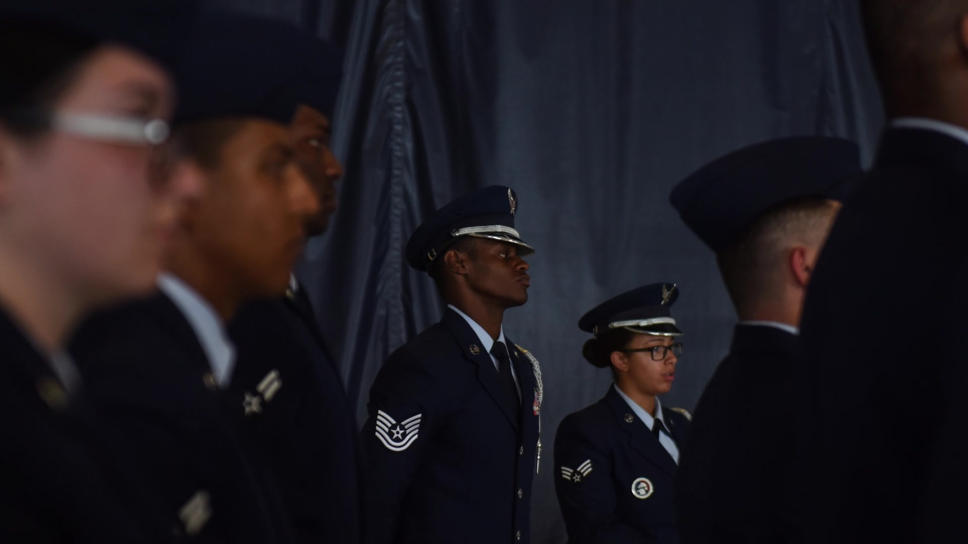 Video on efforts applied prior to an honor guard detail.
