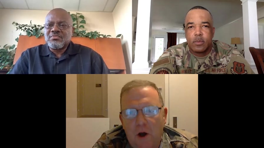 AFRC Diversity and Inclusion Discussion with AFRC Commander Lt. Gen. Rich Scobee, AFRC Command Chief Tim White and AFRC Chief, Diversity and Inclusion Officer, Mr. Lee Floyd.