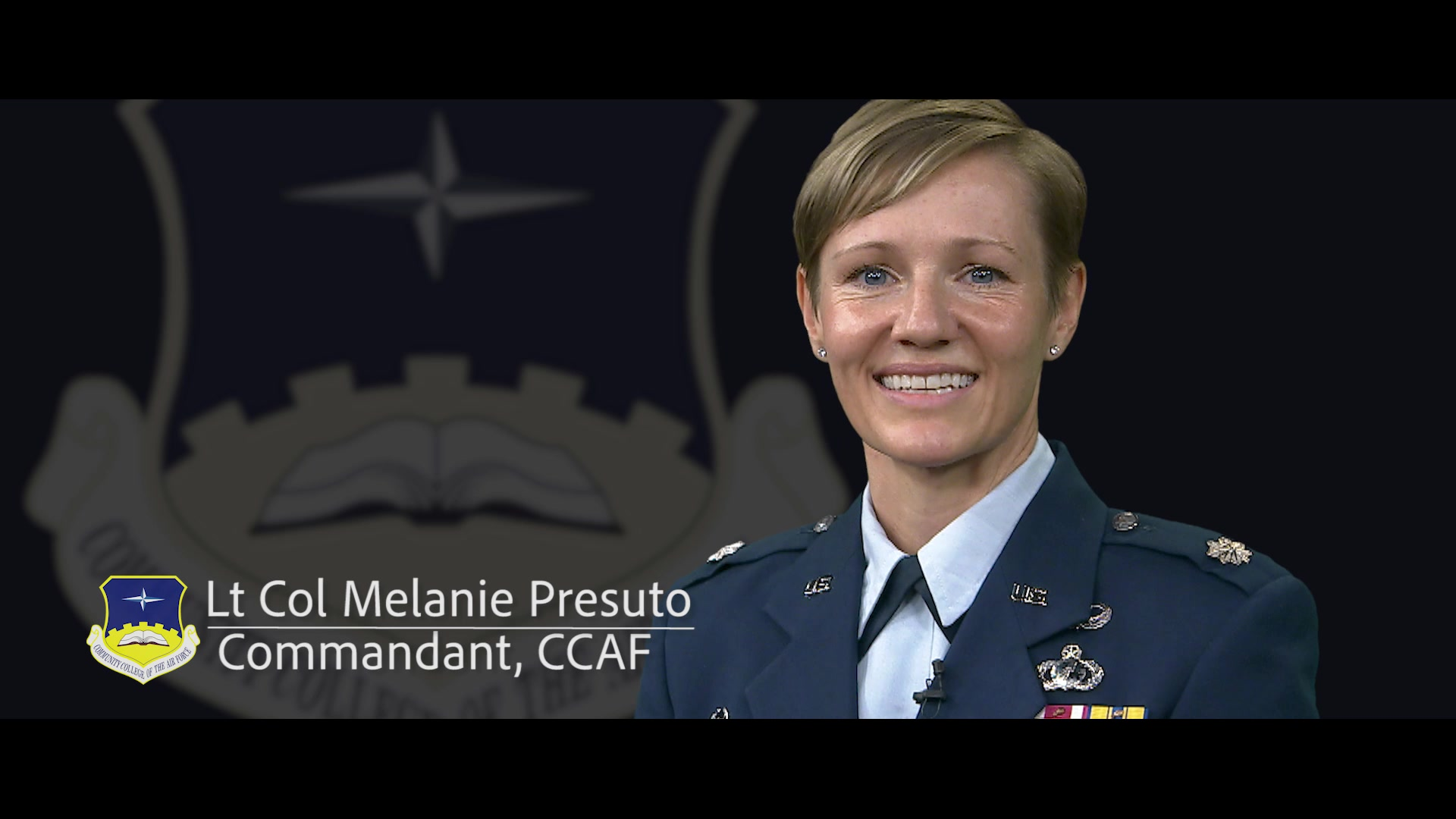 This video is for the CCAF website. An introduction to Lt Col Presuto