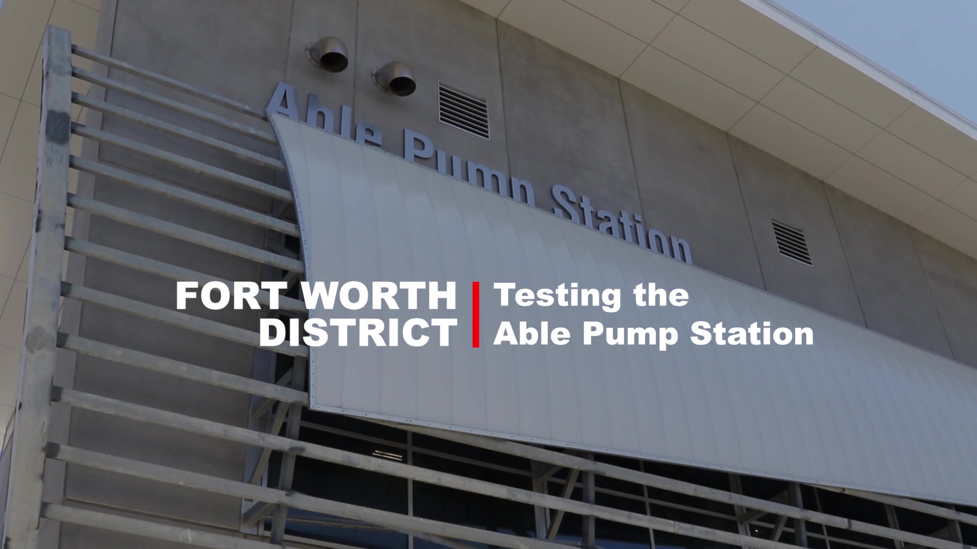 U.S. Army Corps of Engineers Dallas Floodway Project Pump Station Testing video