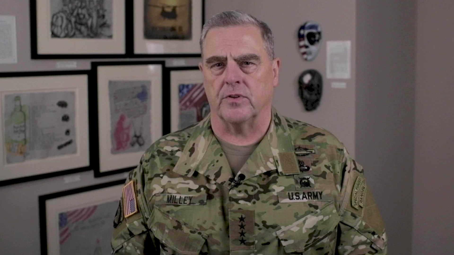 Chairman of the Joint Chiefs of Staff Gen. Mark A. Milley delivers a message marking the month of September as Suicide Prevention Month.