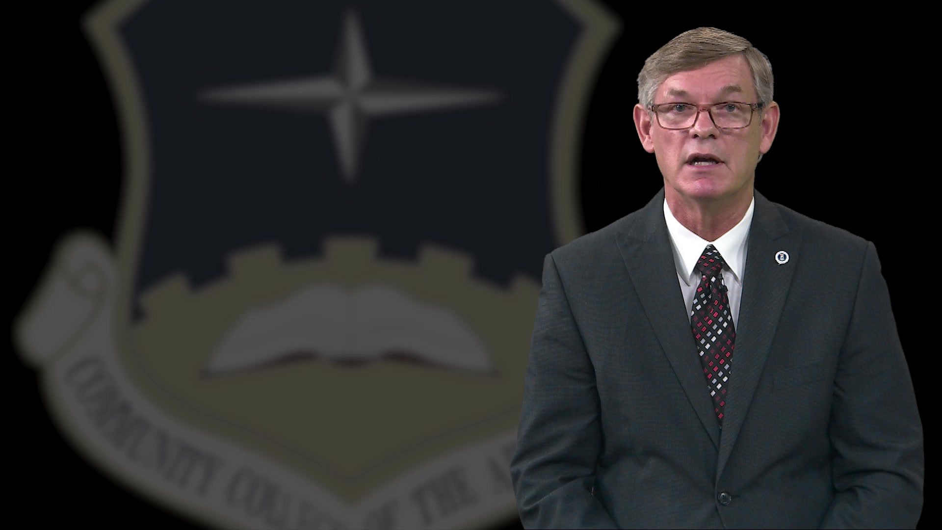 Dr. Hank Dasinger, Dean of the Community College of the Air Force announces a new degree program Military Technology and Applied Sciences Management (MTASM).