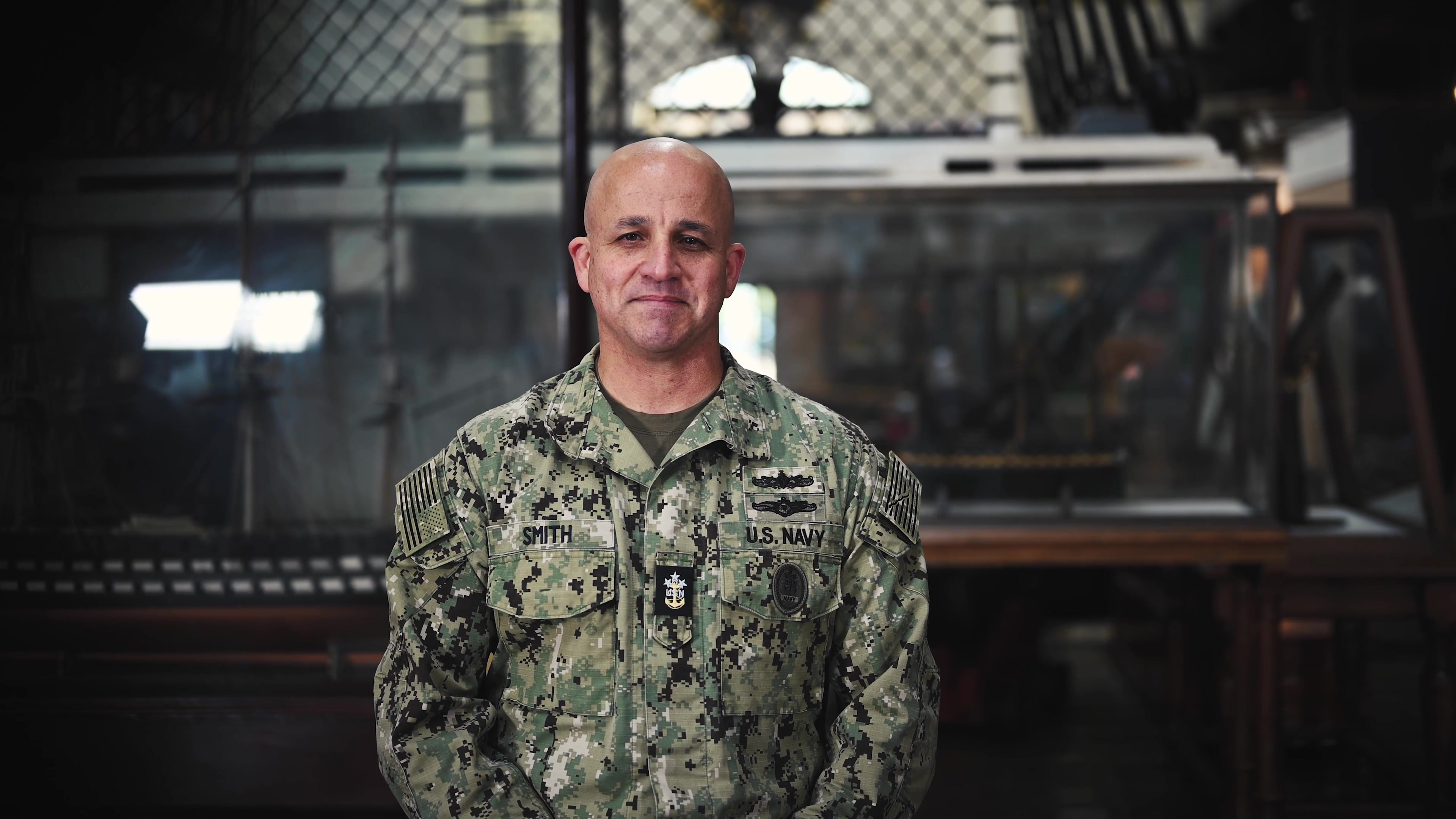 A message from the 15th Master Chief Petty Officer of the Navy, Master Chief Russell Smith commemorating the U.S. Navy's 245th birthday. (U.S. Navy video production by All Hands Magazine/ Navy Production, Defense Media Activity)