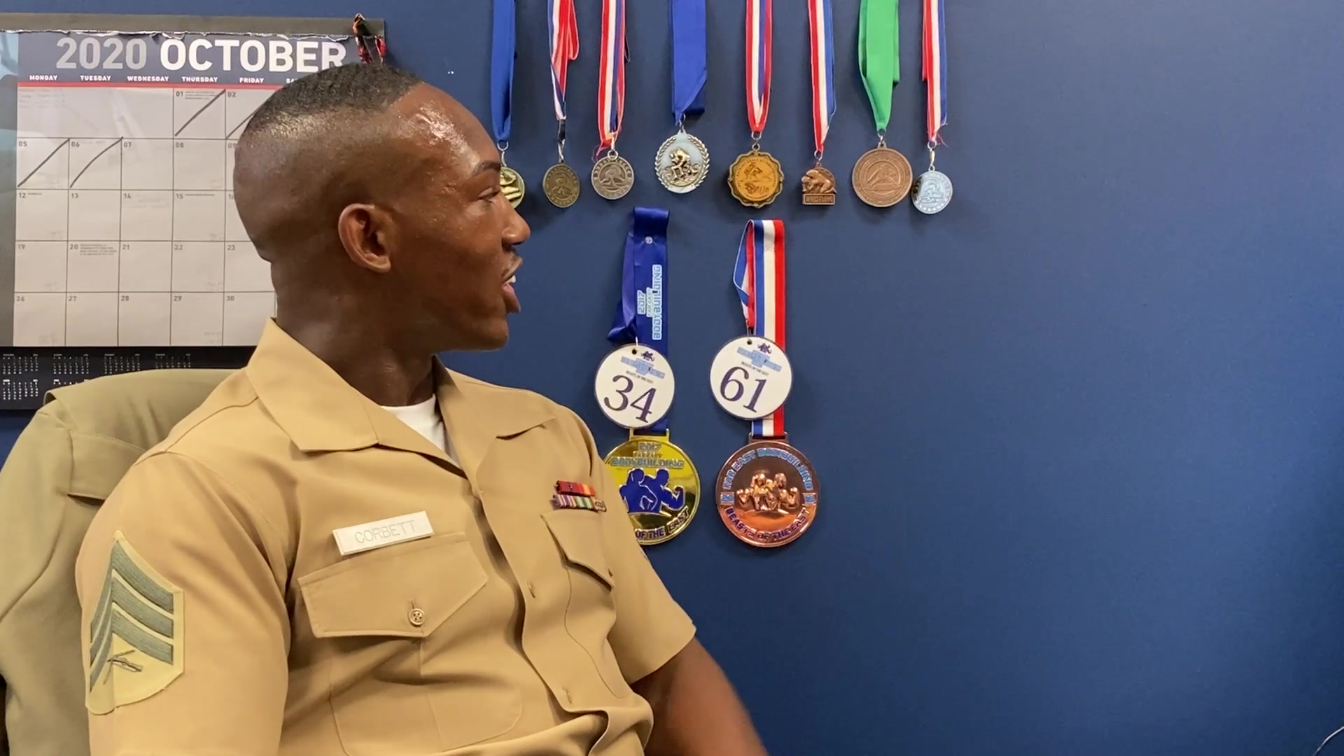 Sgt. Artemas Corbett explains how his past experiences have helped him be a successful recruiter in Orange City, Florida, on Oct. 7, 2020. Corbett is a recruiter at Recruiting Substation Daytona Beach, Recruiting Station Jacksonville, 6th Marine Corps District. (U.S. Marine Corps video by Cpl. Marvin Chavez)