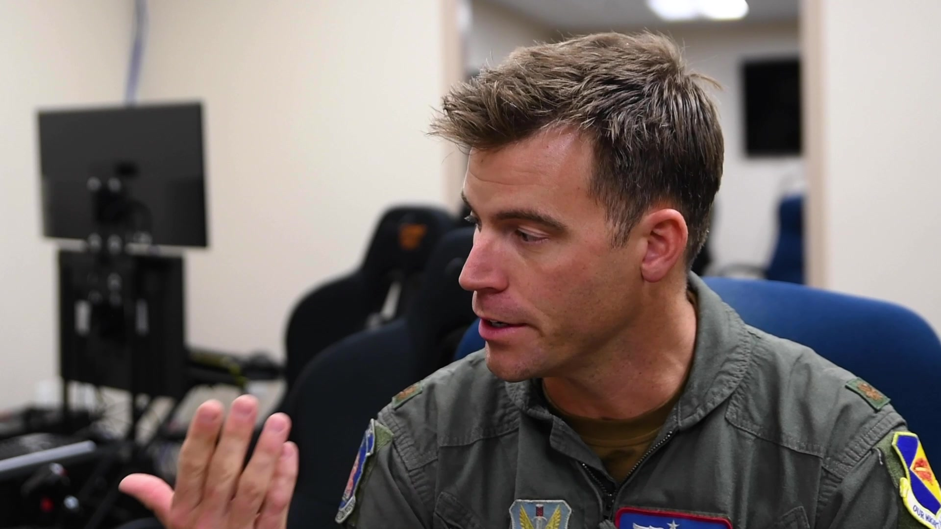 Video of 355th Training Squadron at Davis-Monthan Air Force Base implementing an  A-10 Thunderbolt II virtual reality simulator lab.