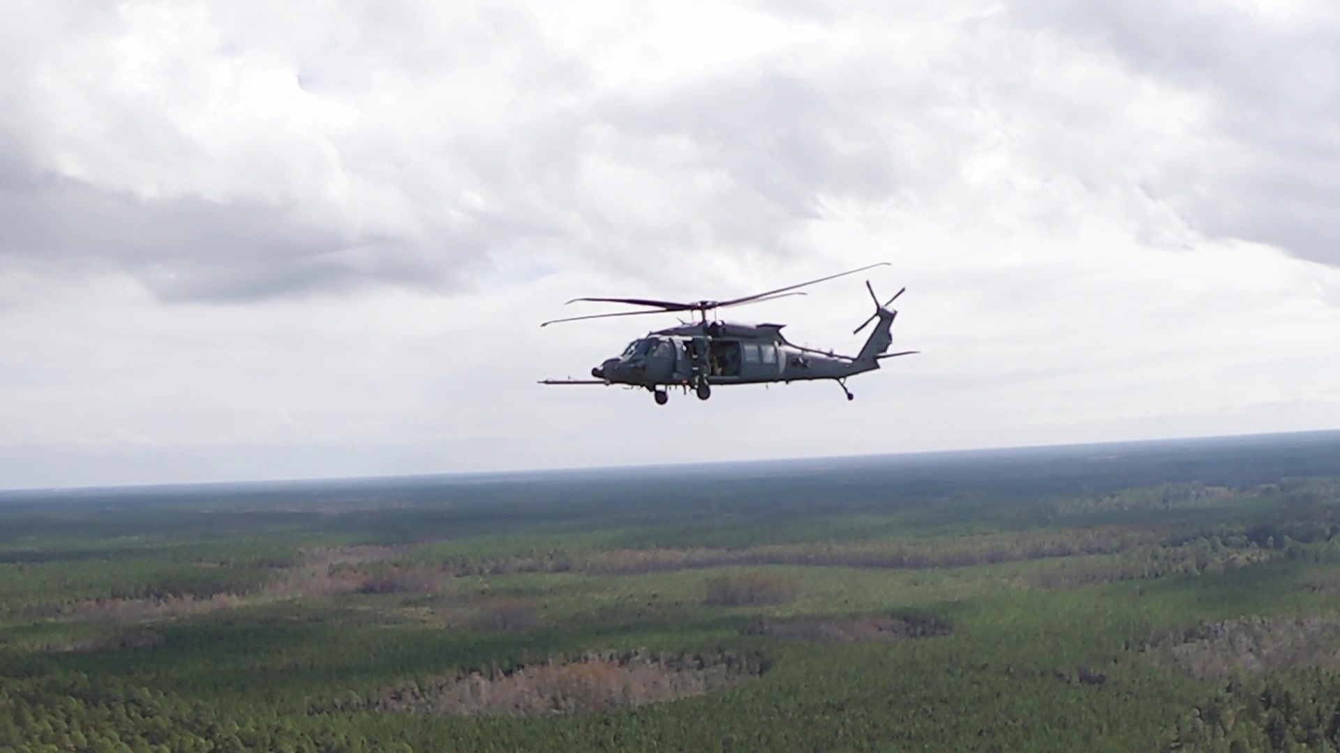 Video of the Air Force's first two HH-60W Jolly Green II helicopters.