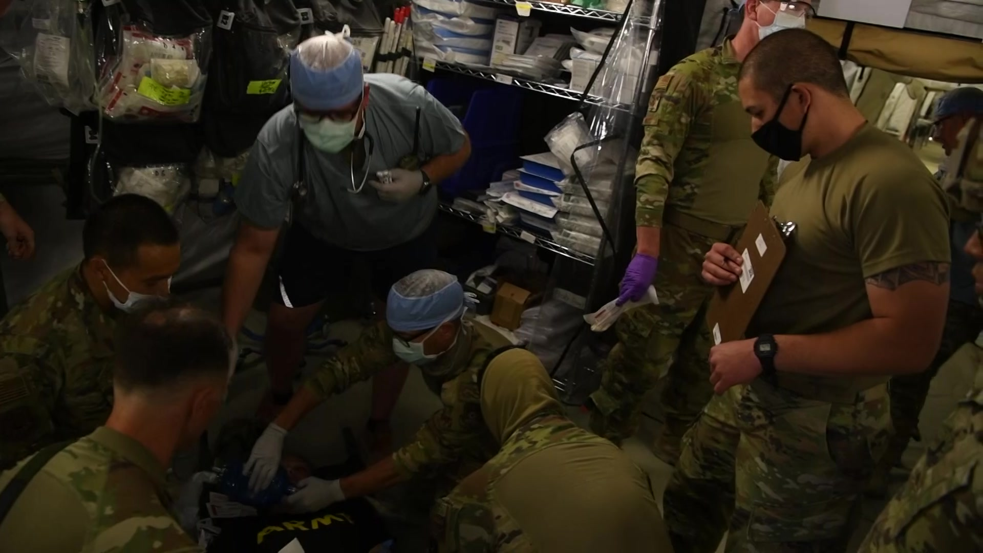 Video of a mass casualty exercise.