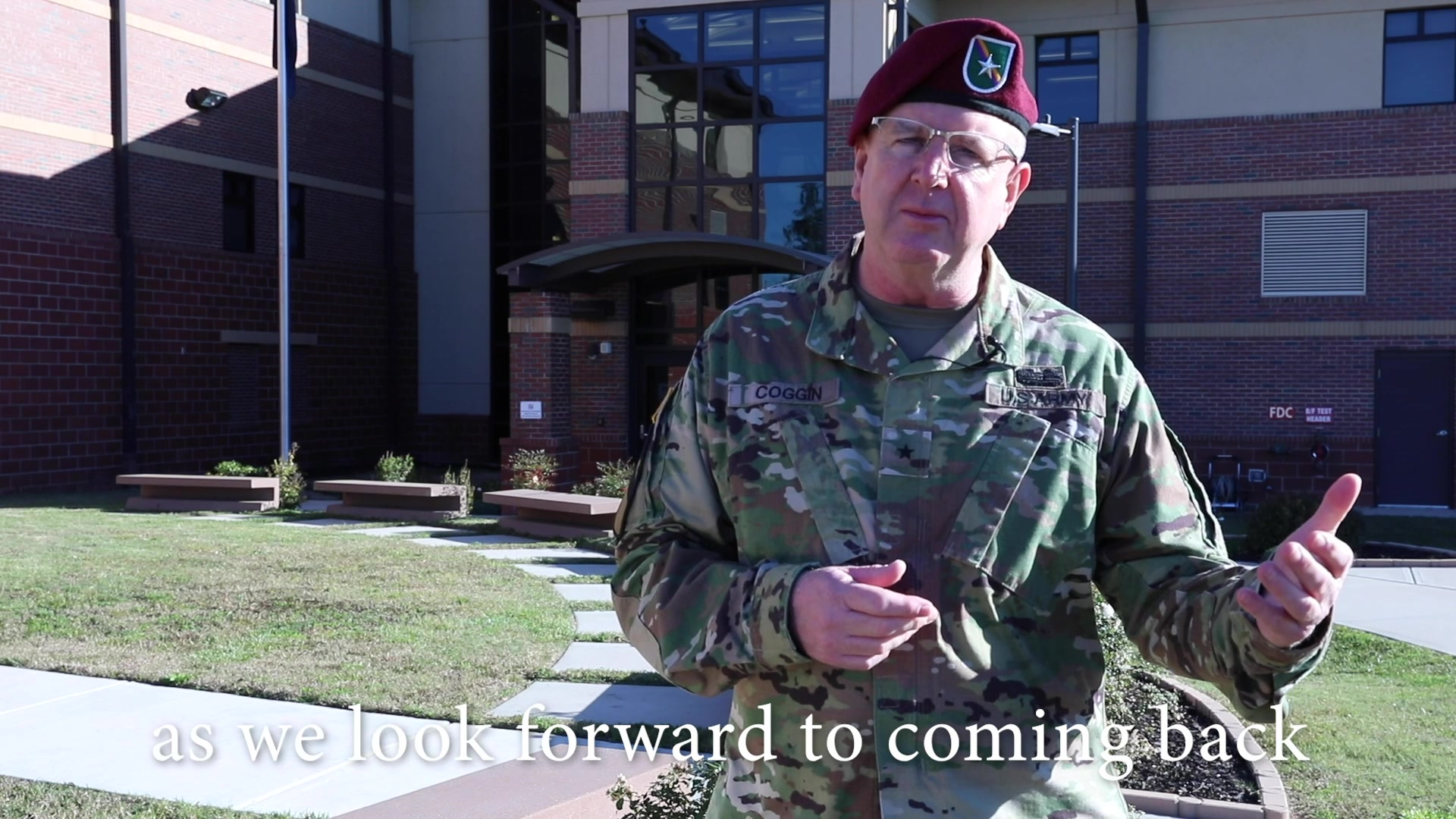 Brig. Gen. Jeffrey C. Coggin speaks about safely enjoying this holiday season, looking out for your battle buddies, updating PHA/MEDPROS and COVID-19 Safety.
